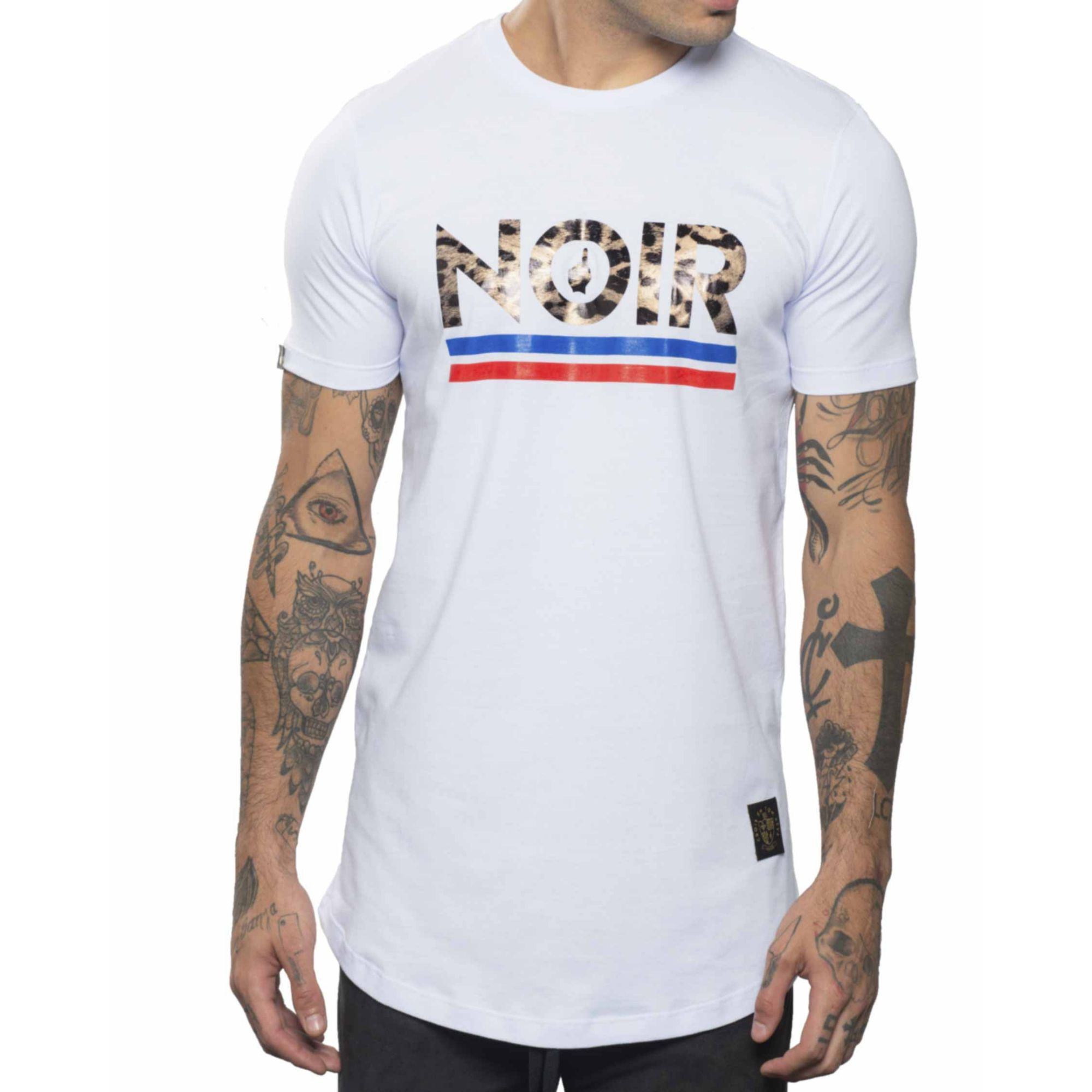 Camiseta Buh Noir Animal Print White