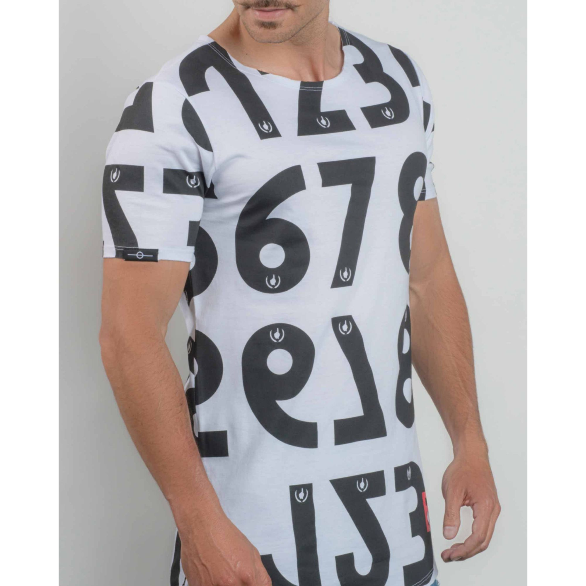 Camiseta Buh Numbers White & Black