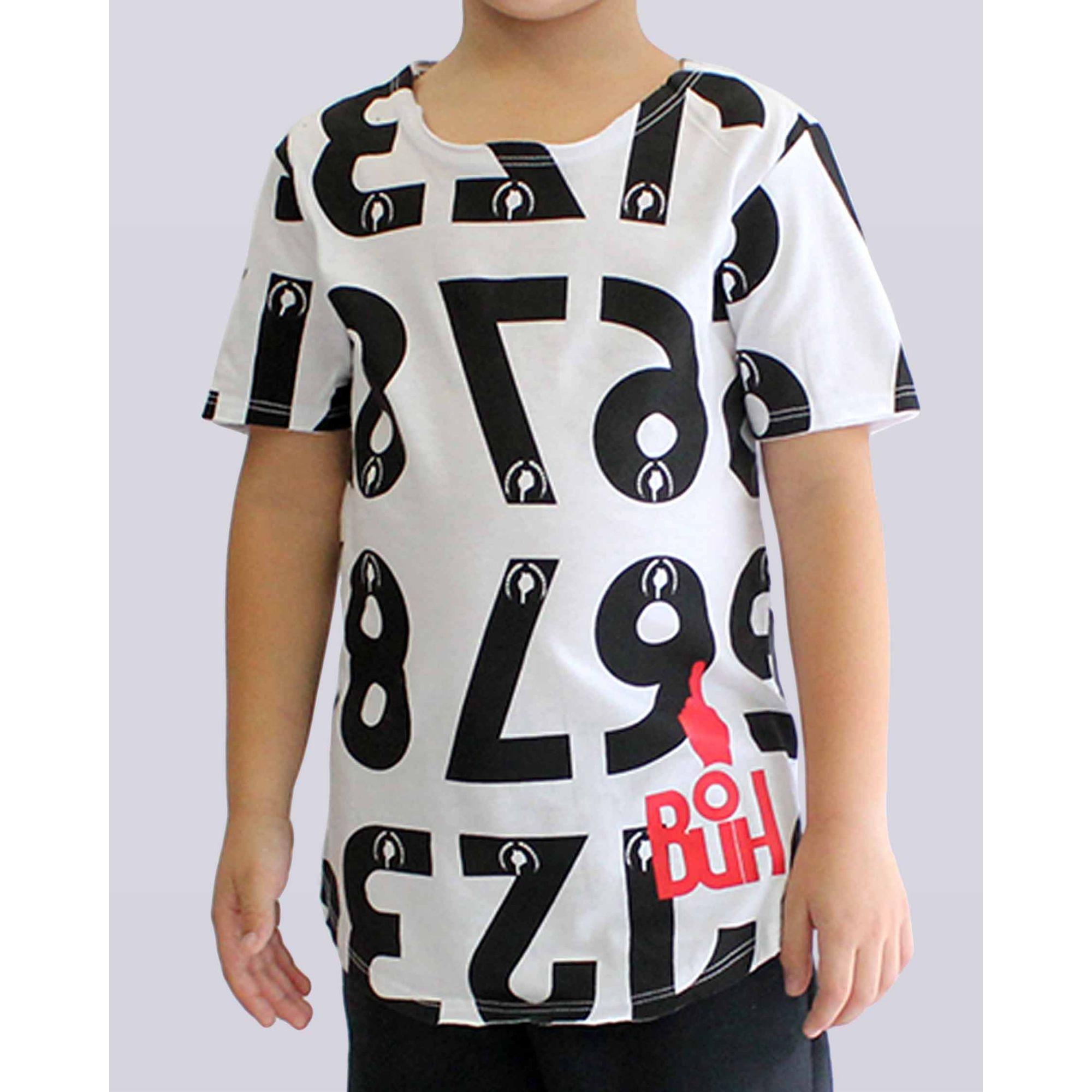 Camiseta Buh Numbers White & Black Kids
