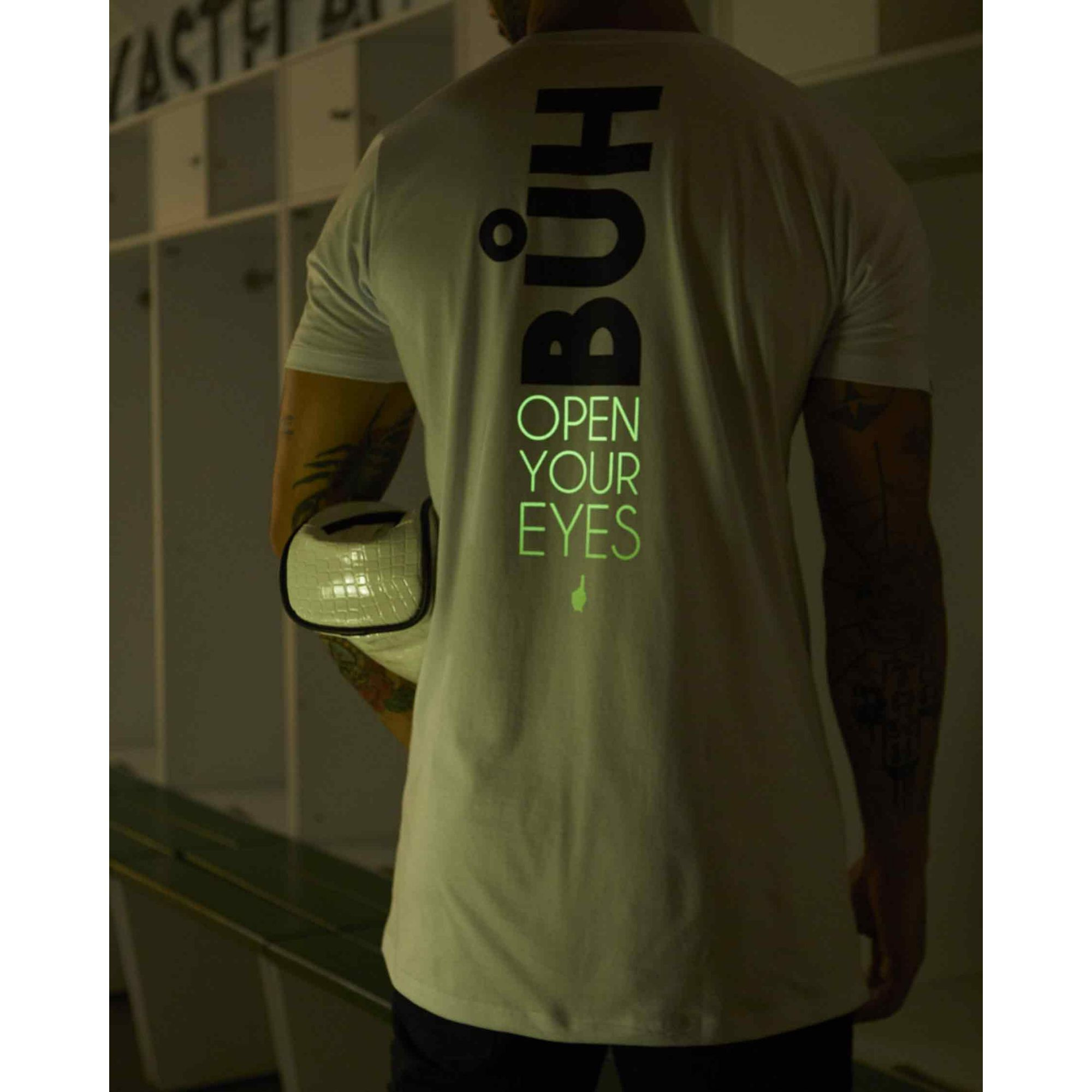 Camiseta Buh Open Your Eyes White