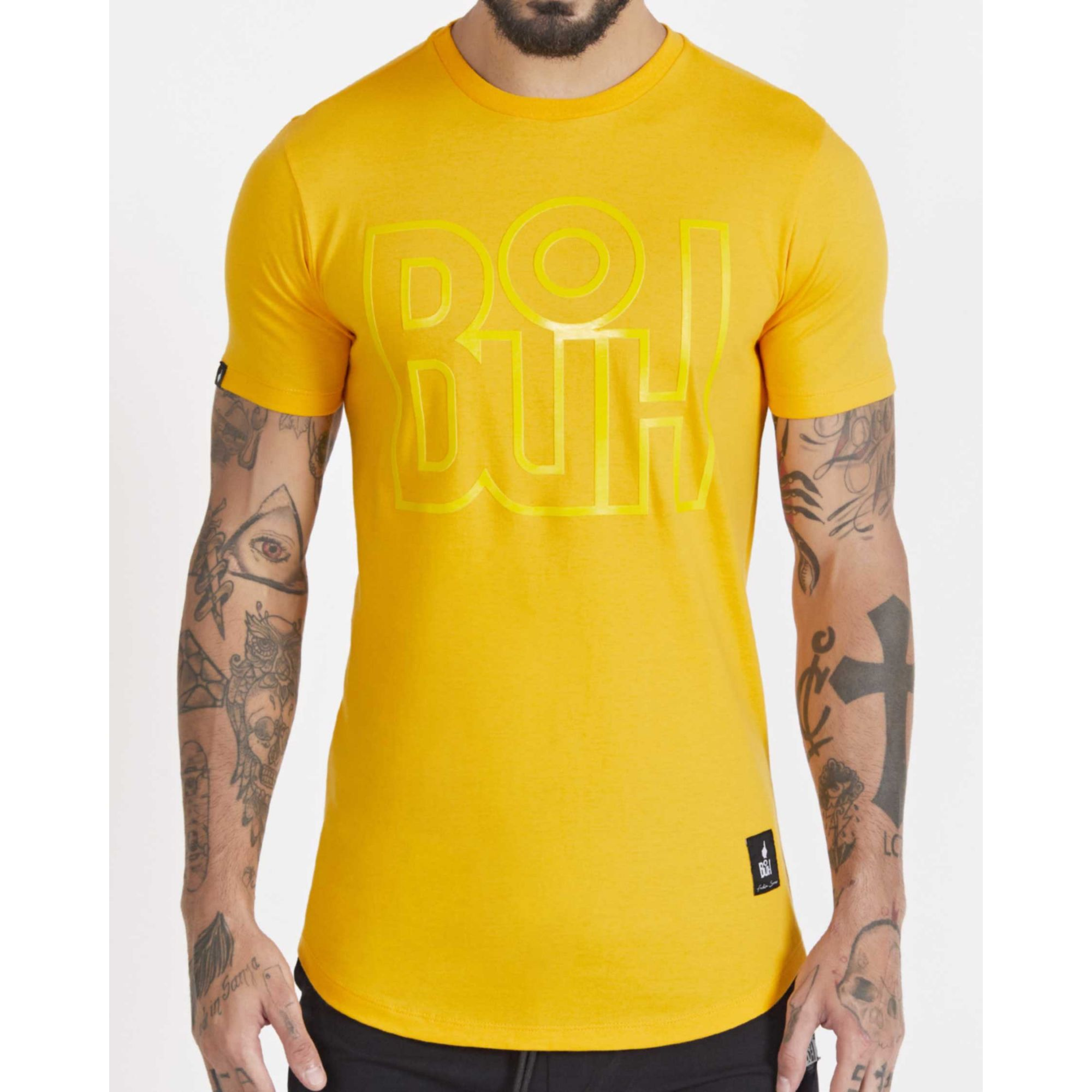 Camiseta Buh Outline Yellow