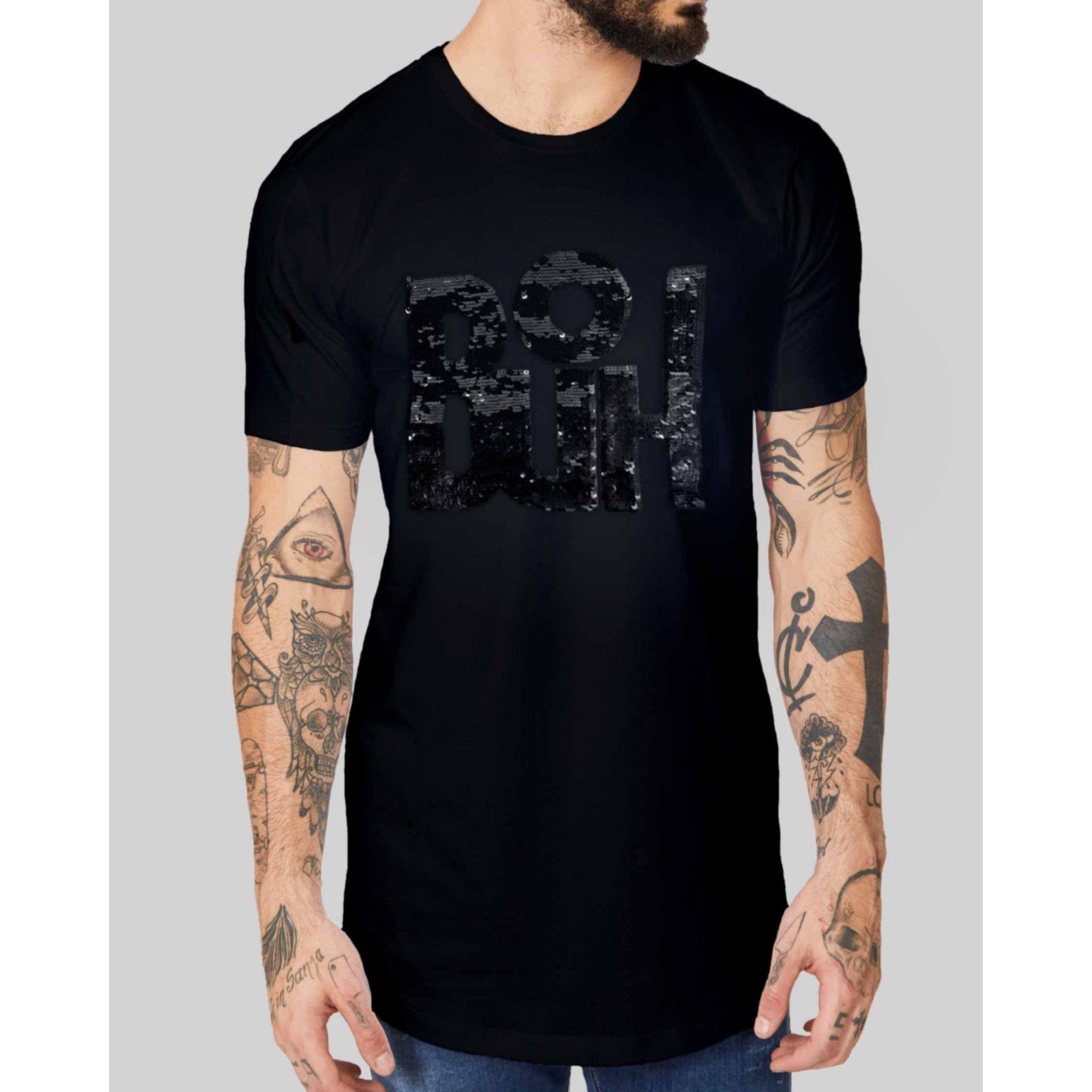 Camiseta Buh Paetê Black