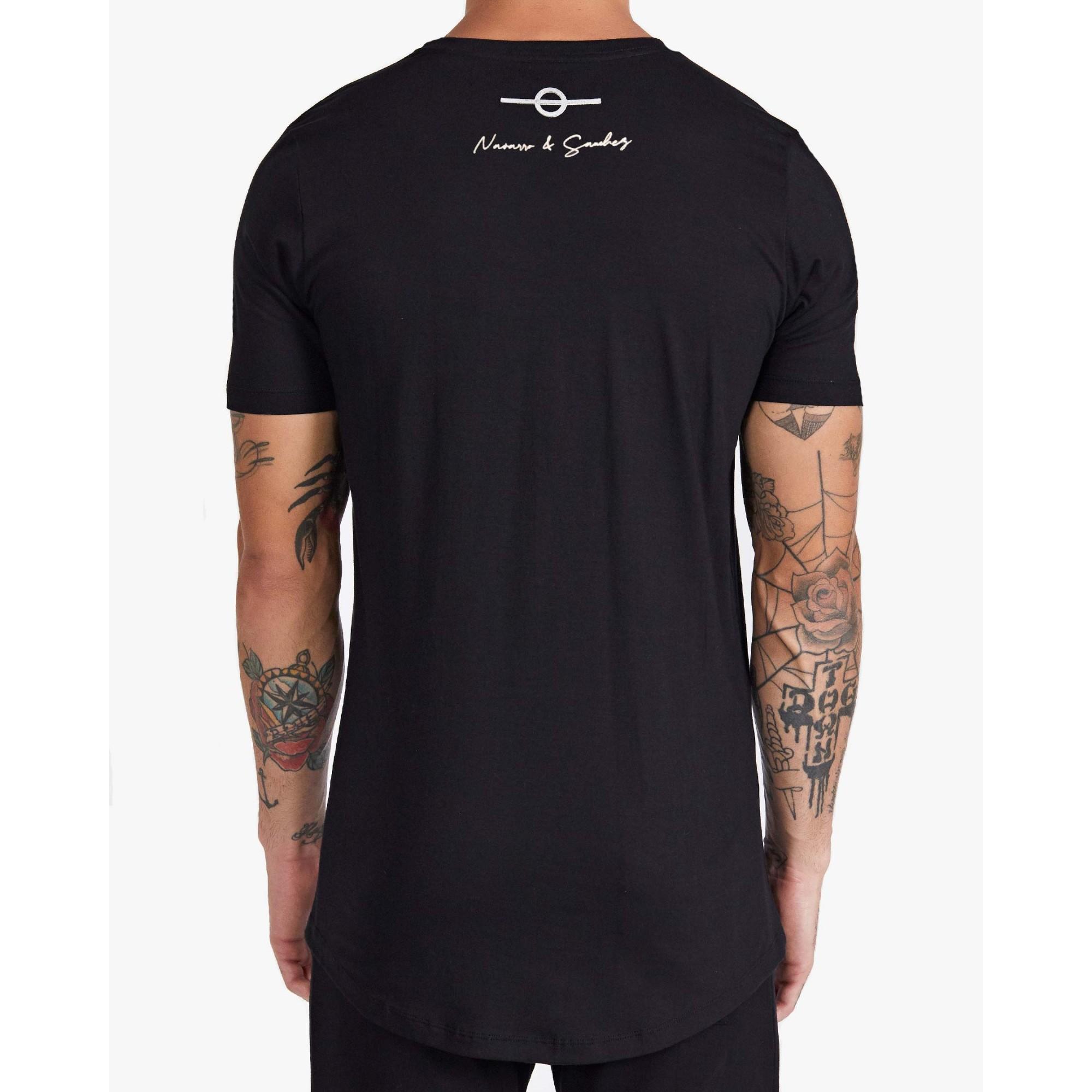 Camiseta Buh Paetê Multicolor Black