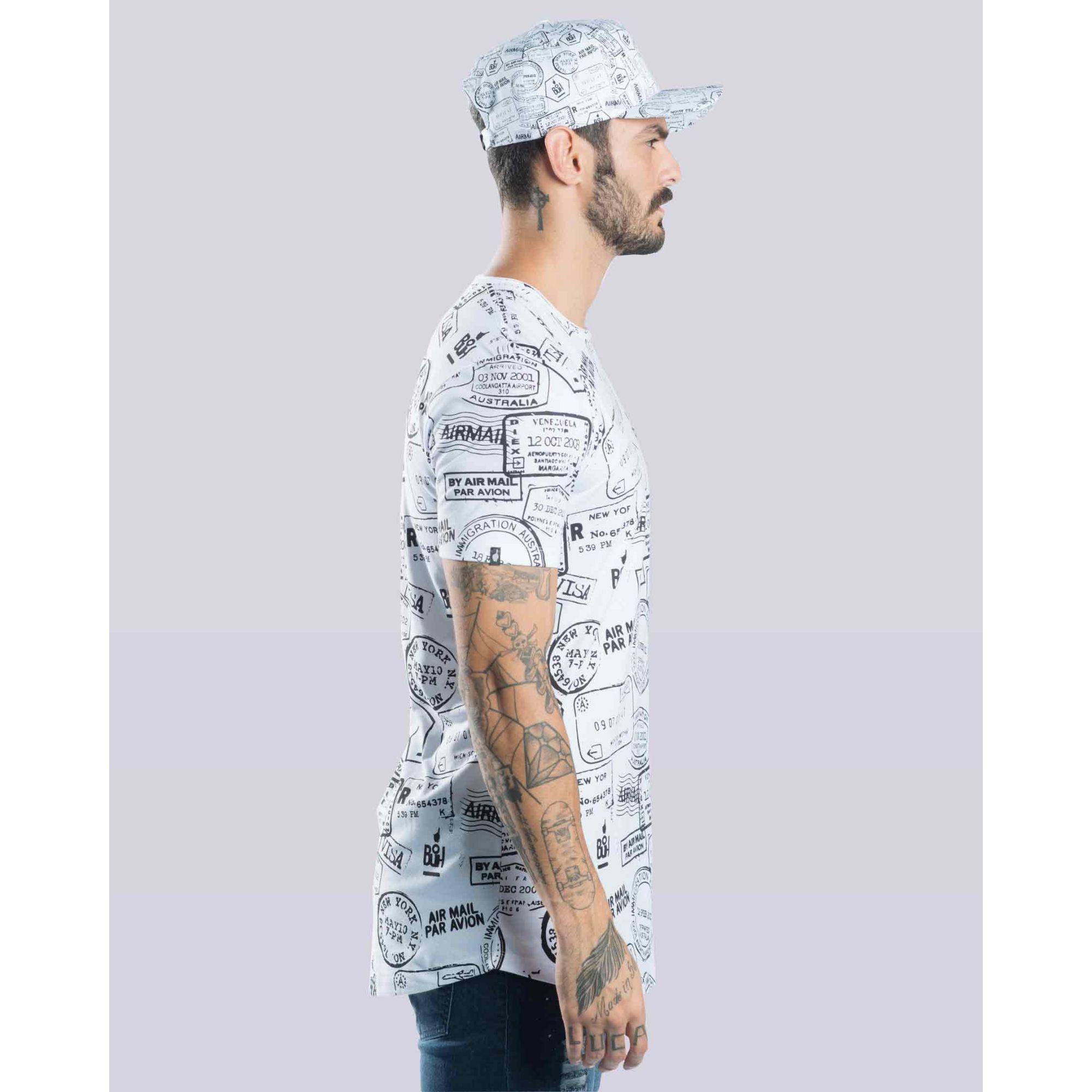 Camiseta Buh Passaporte White