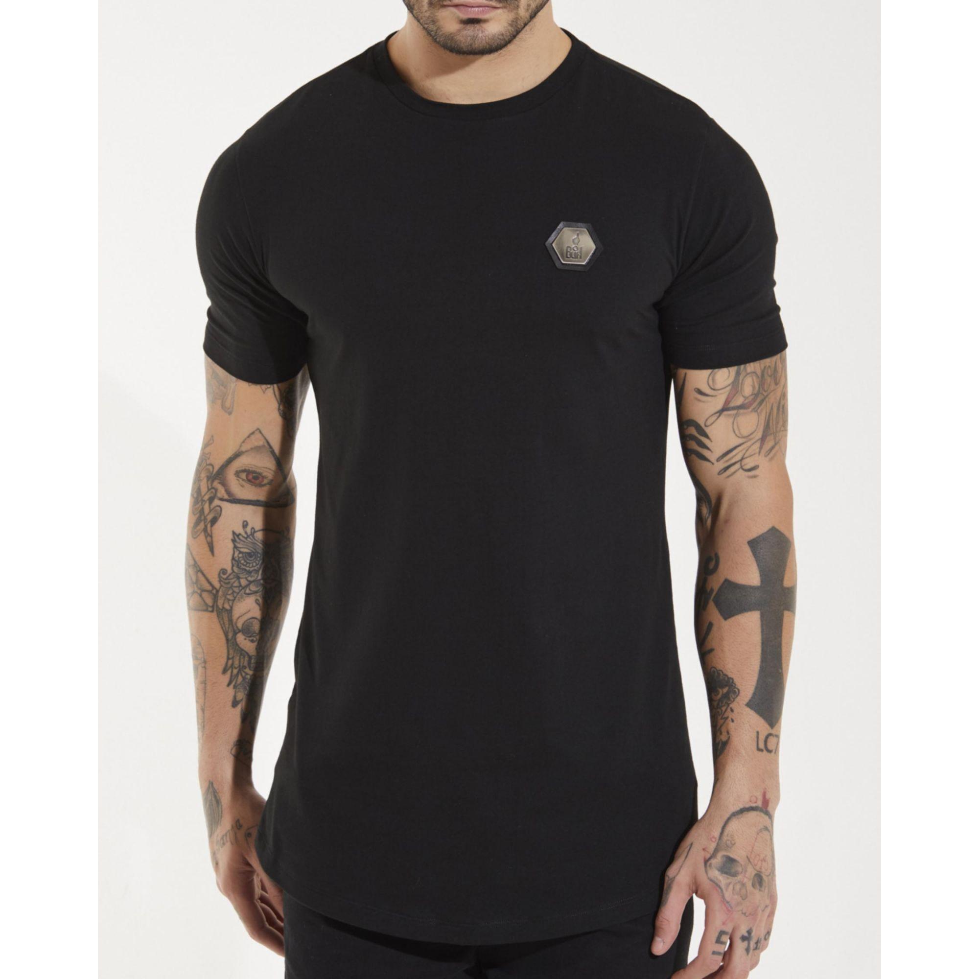 Camiseta Buh Plaquinha Básica Black