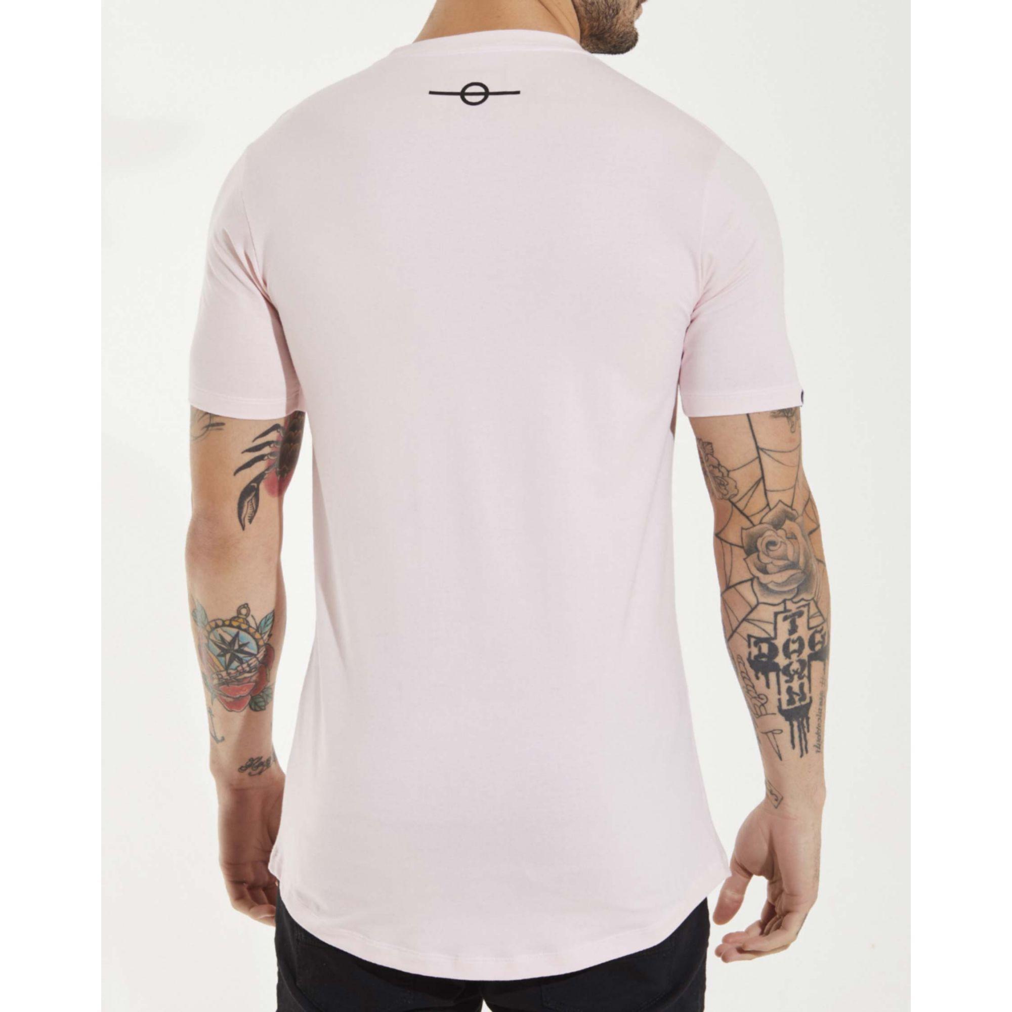 Camiseta Buh Plaquinha Básica Rose