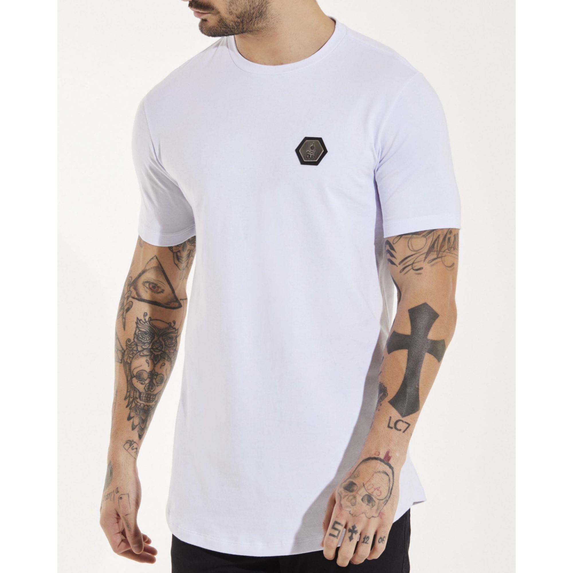 Camiseta Buh Plaquinha Básica White