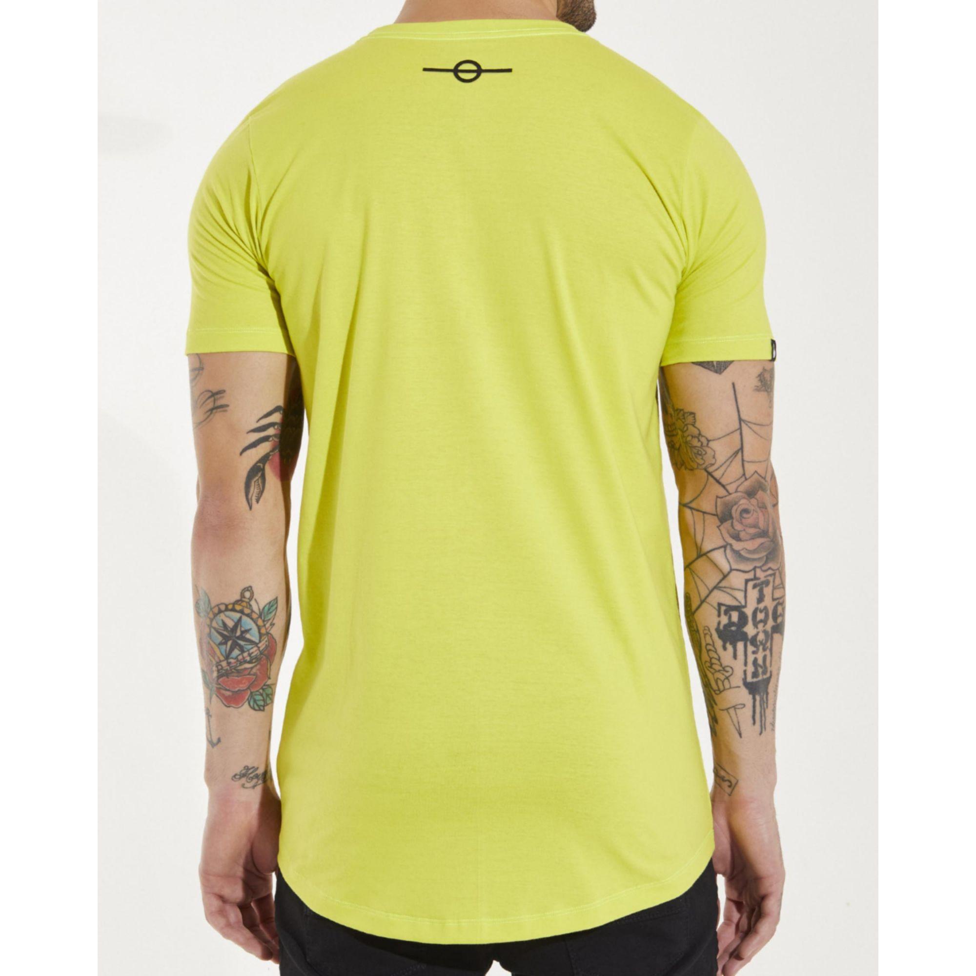 Camiseta Buh Plaquinha Verde Limão