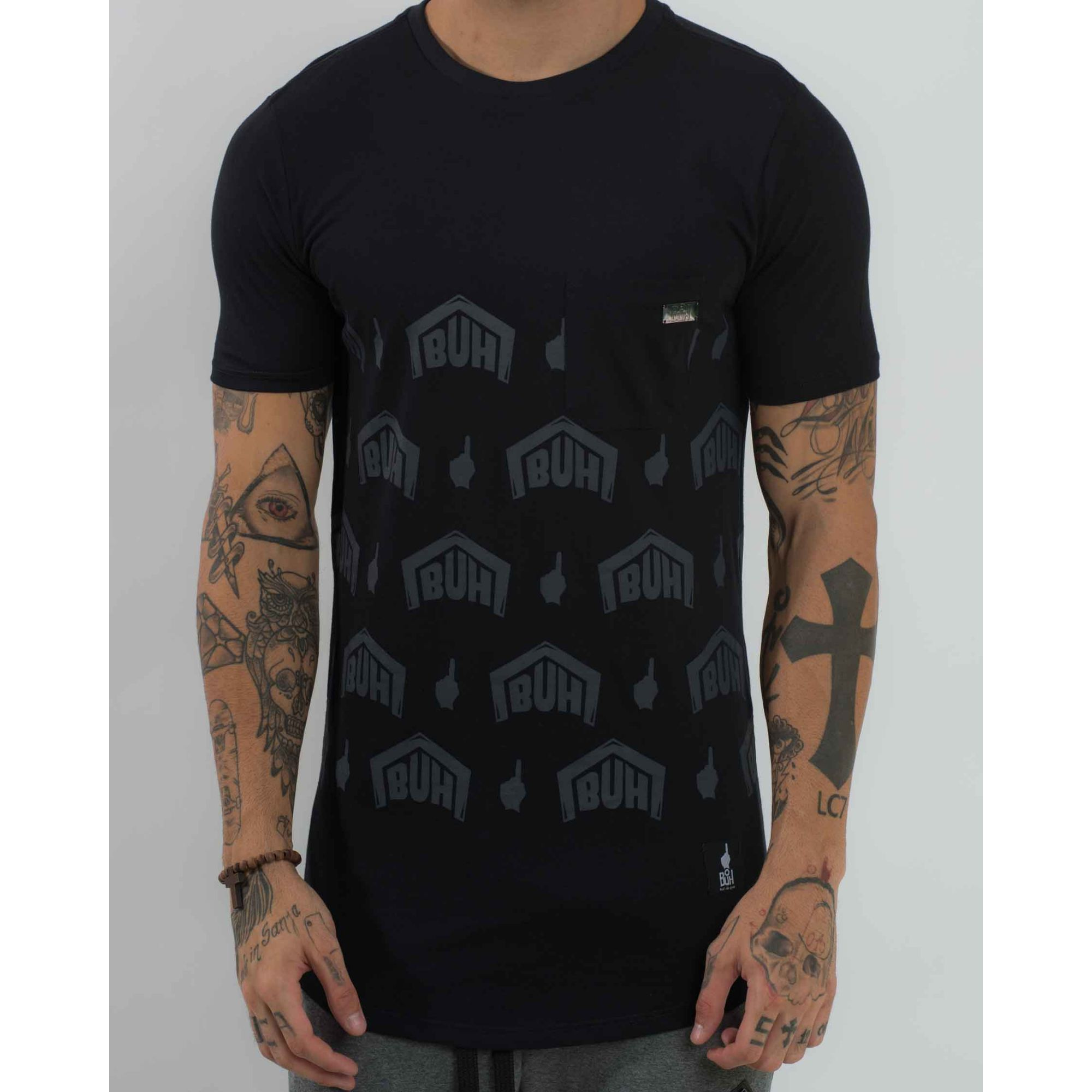 Camiseta Buh Pocket Plate Black