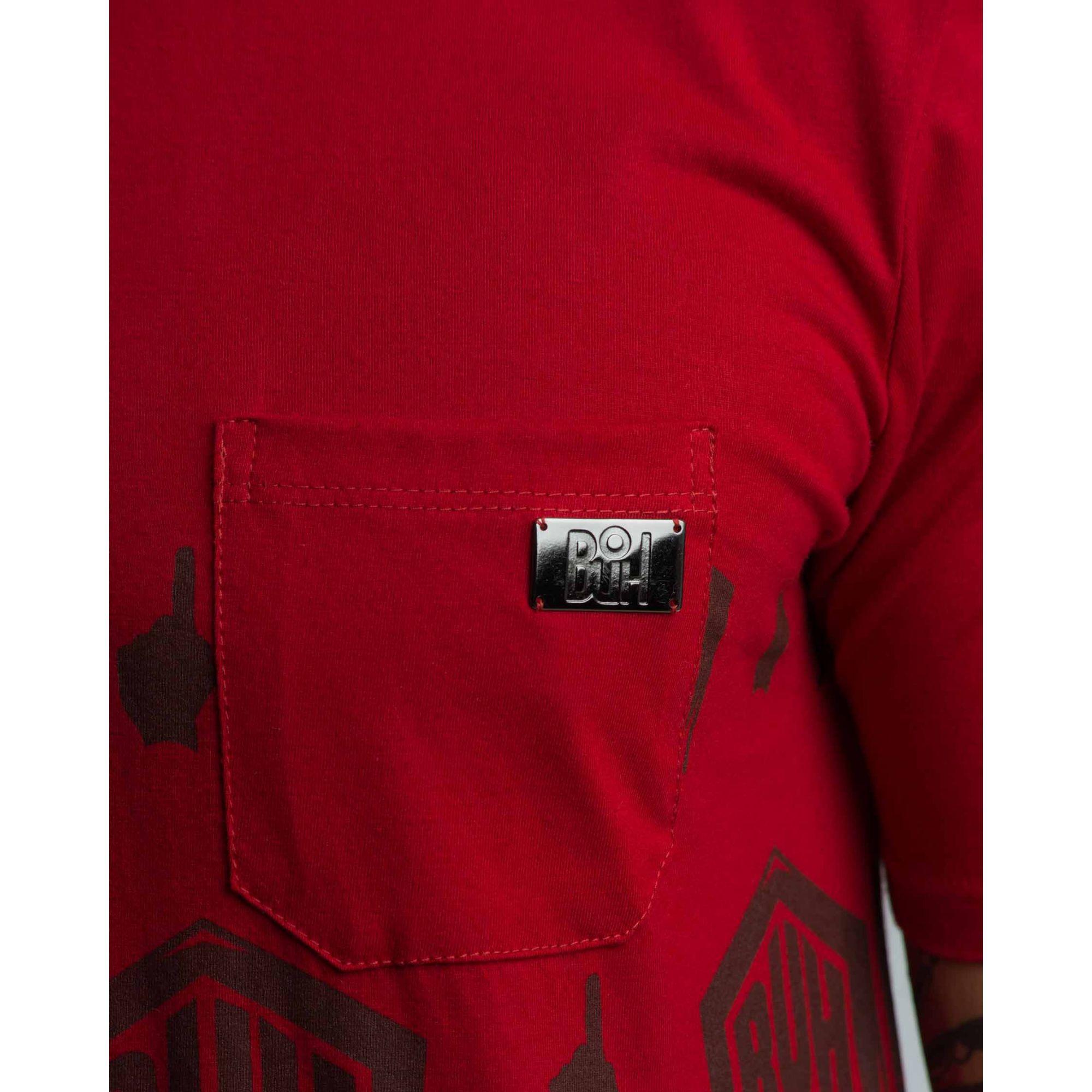 Camiseta Buh Pocket Plate Red