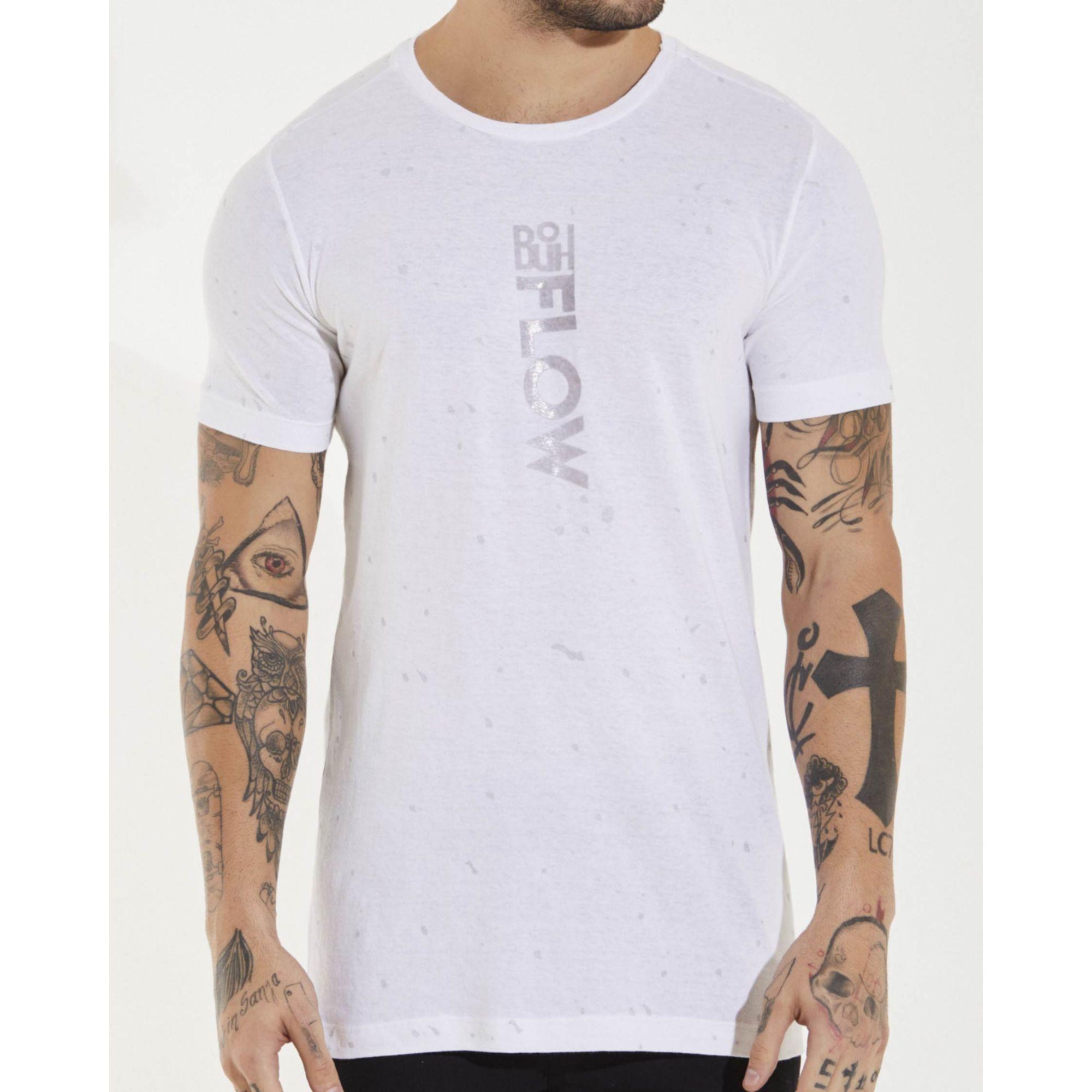 Camiseta Buh Rain White