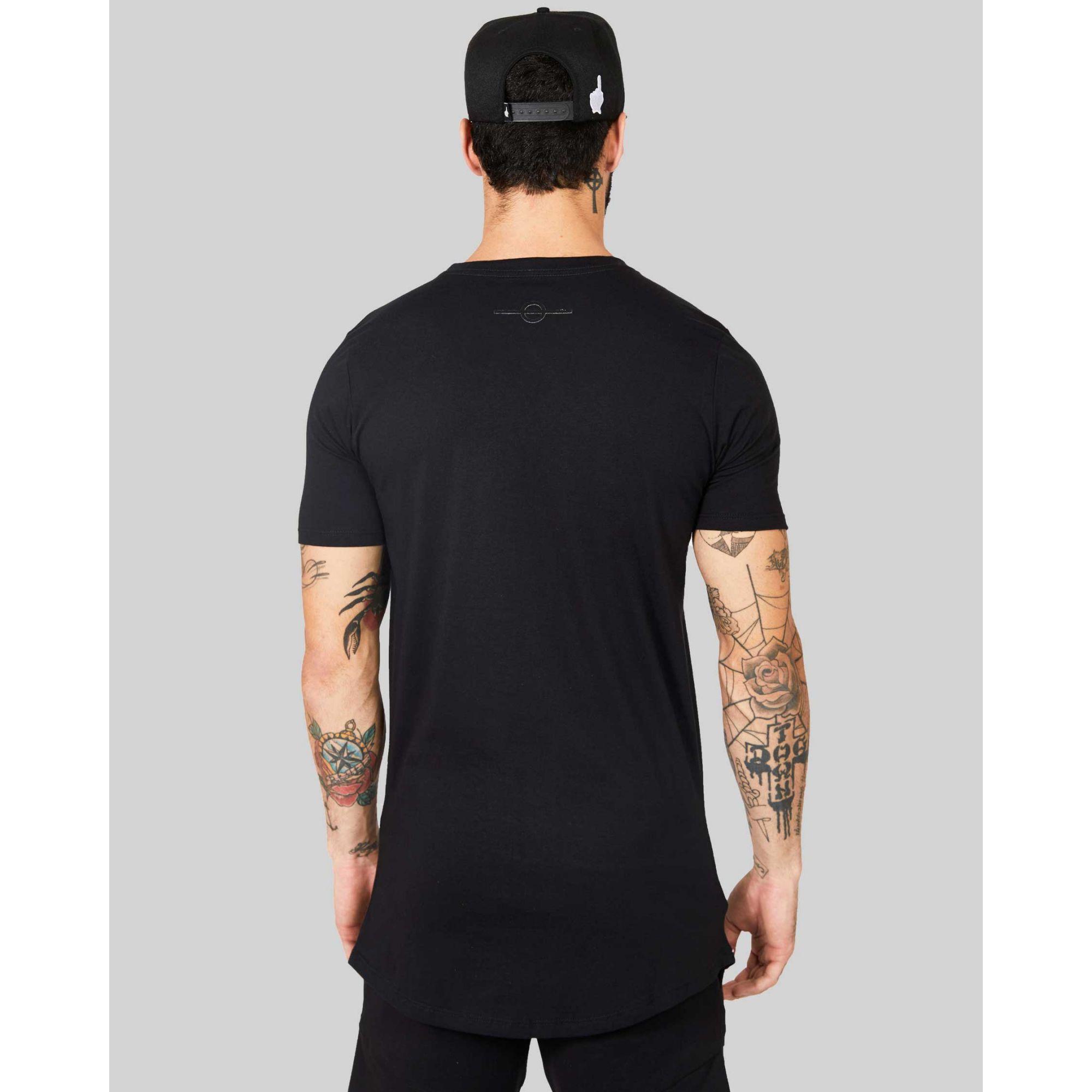 Camiseta Buh Retângulo Black