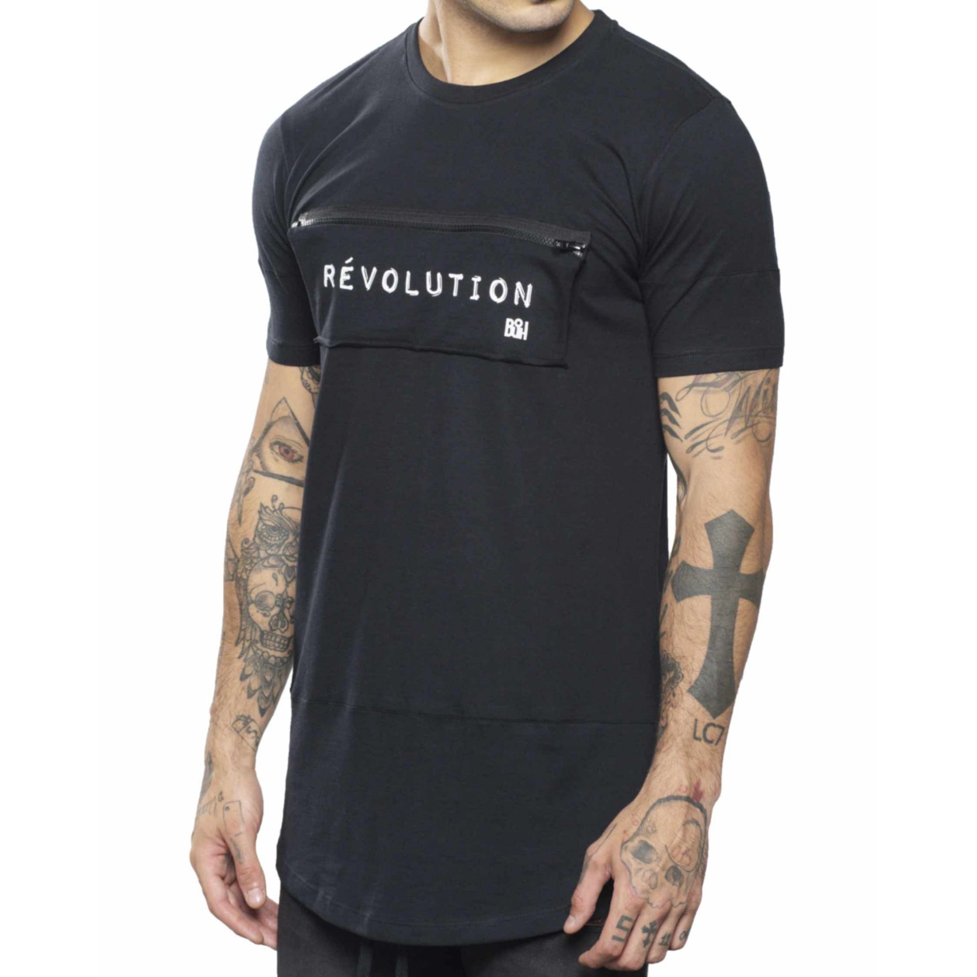 Camiseta Buh Révolution Zíper Black