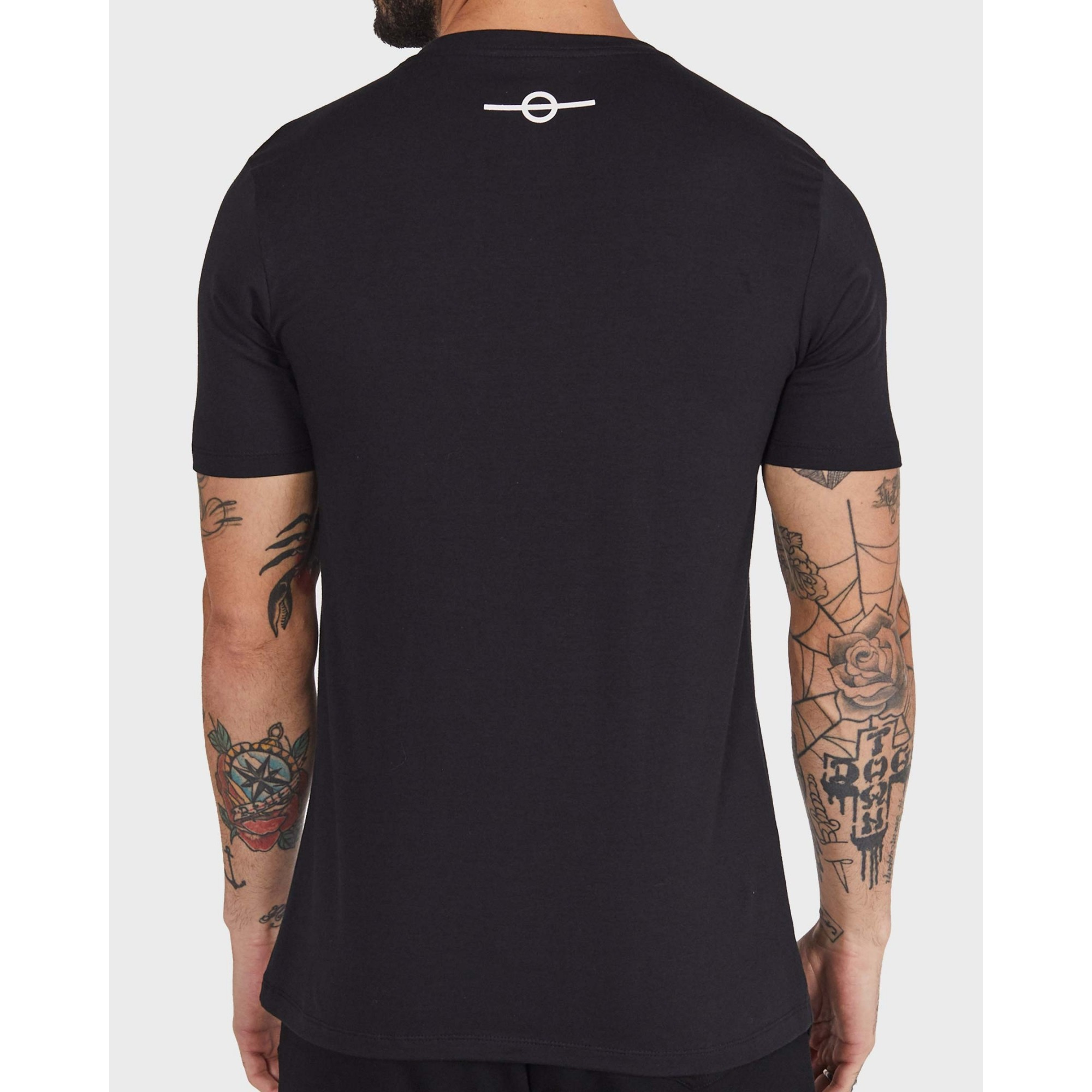 Camiseta Buh Silk Faixas Black