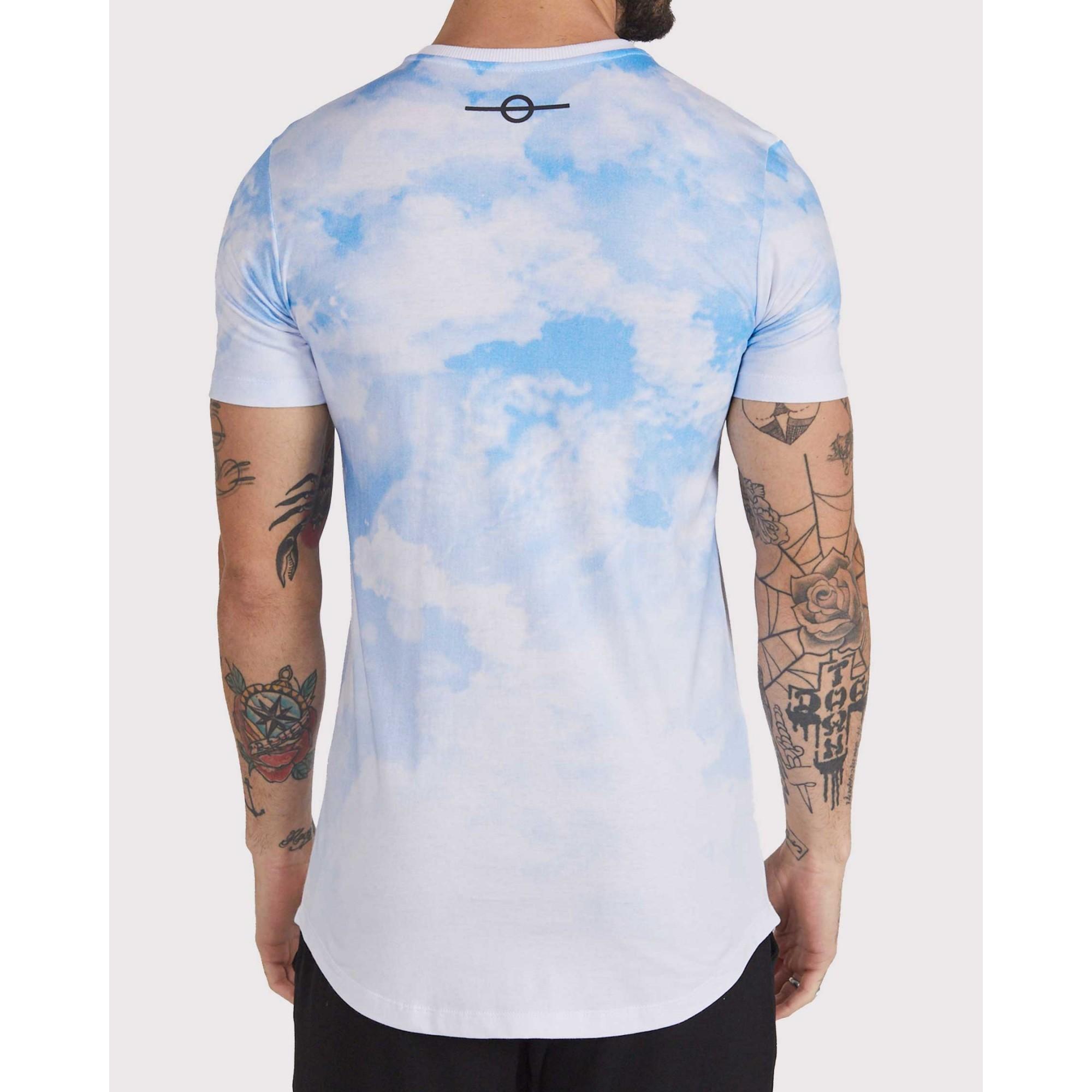 Camiseta Buh Sky White & Blue
