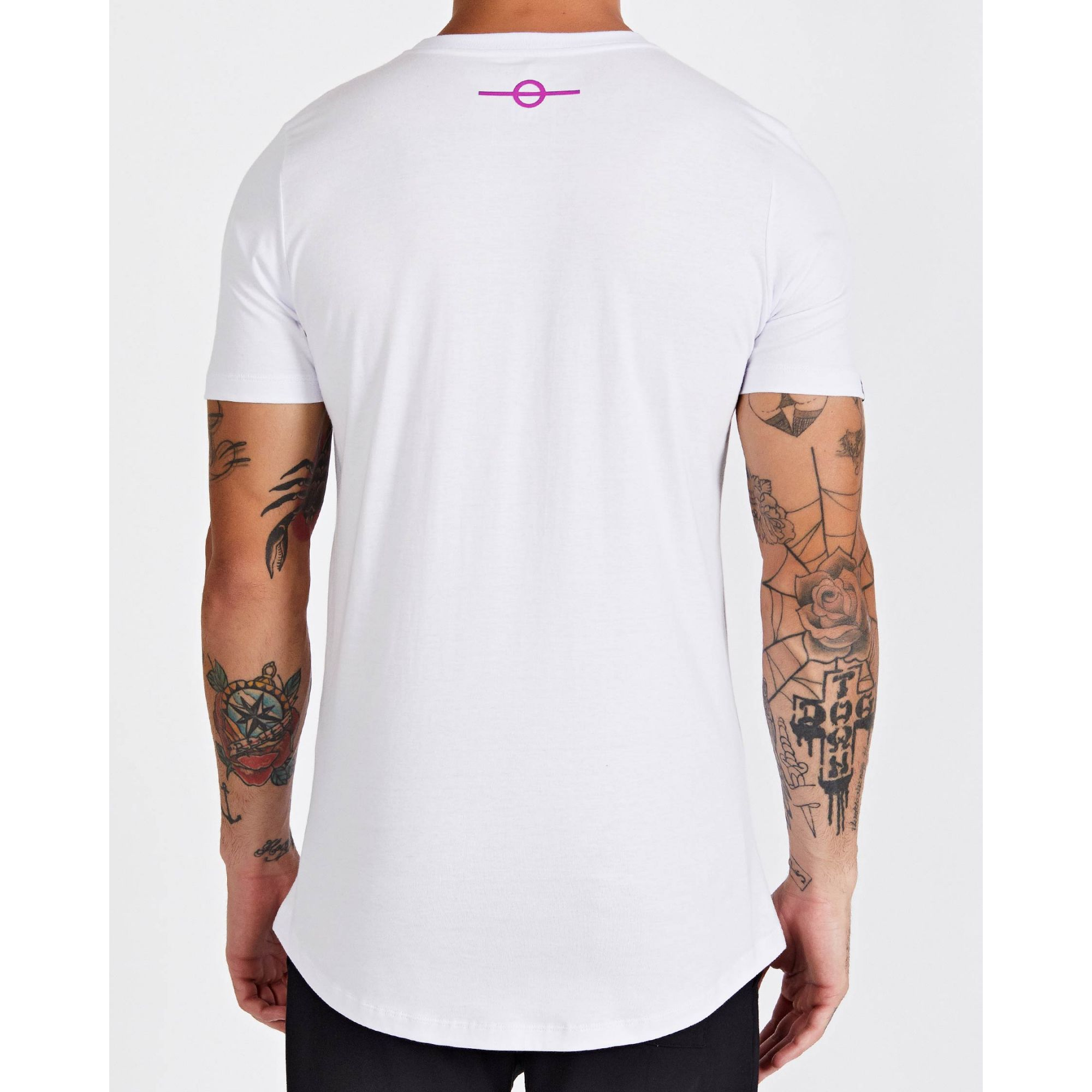 Camiseta Buh Square Believe White & Pink