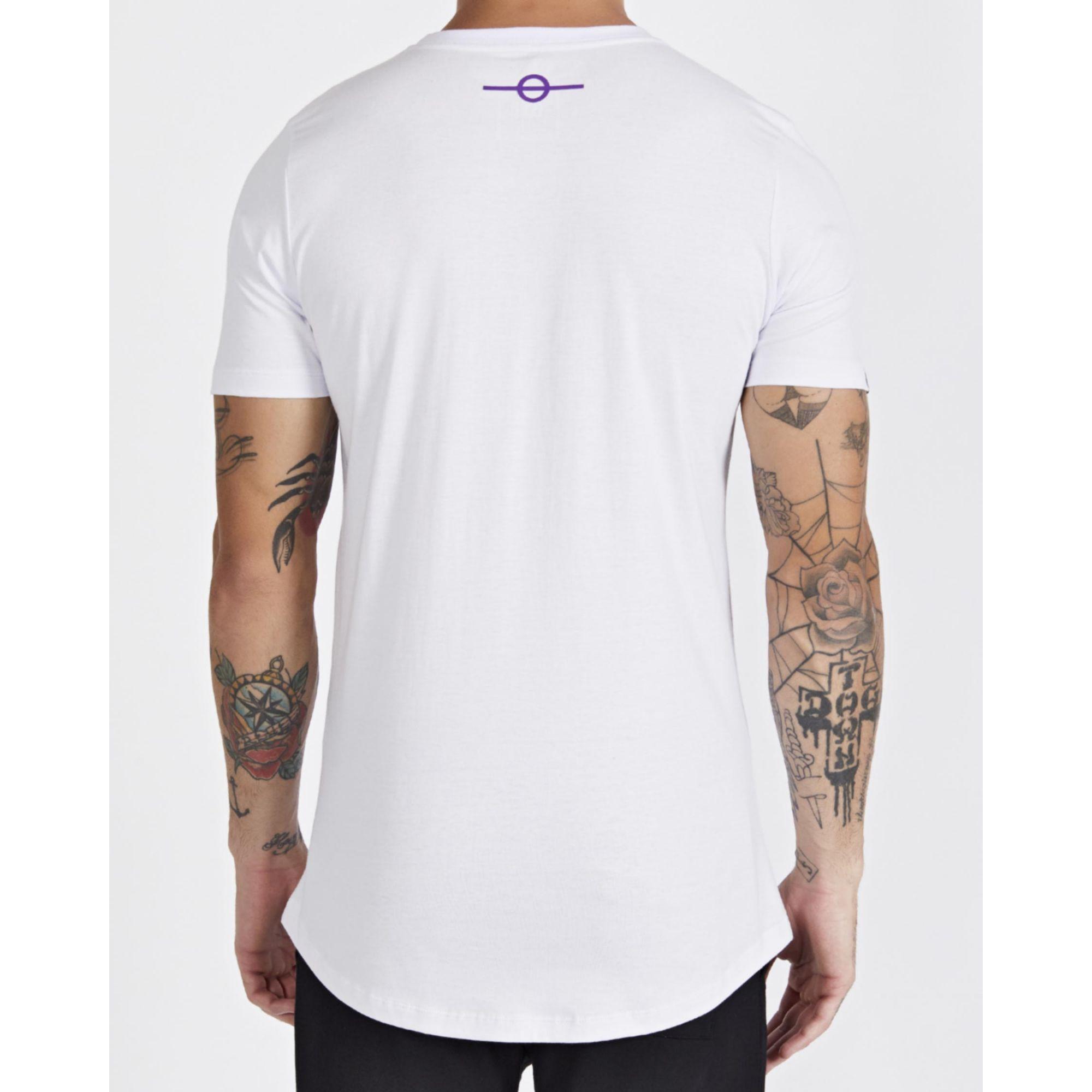 Camiseta Buh Square Believe White & Purple