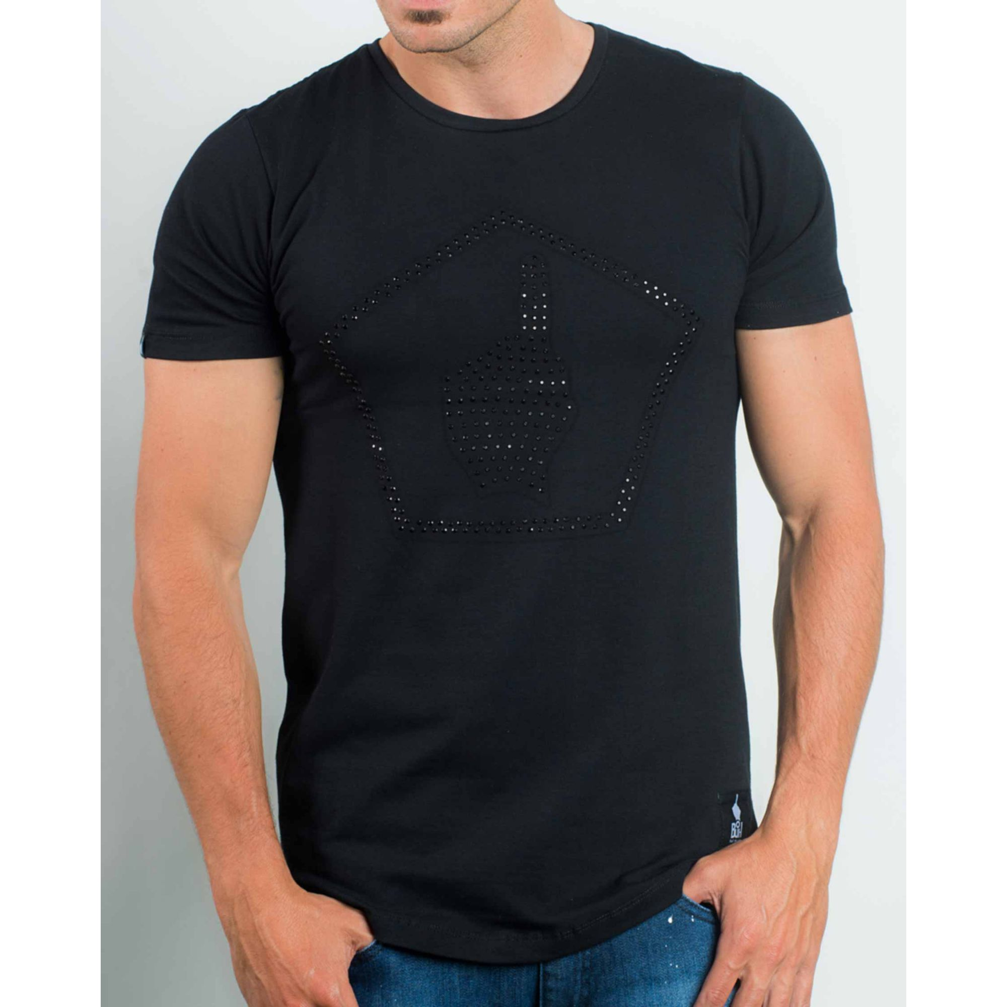 Camiseta Buh Strass Black