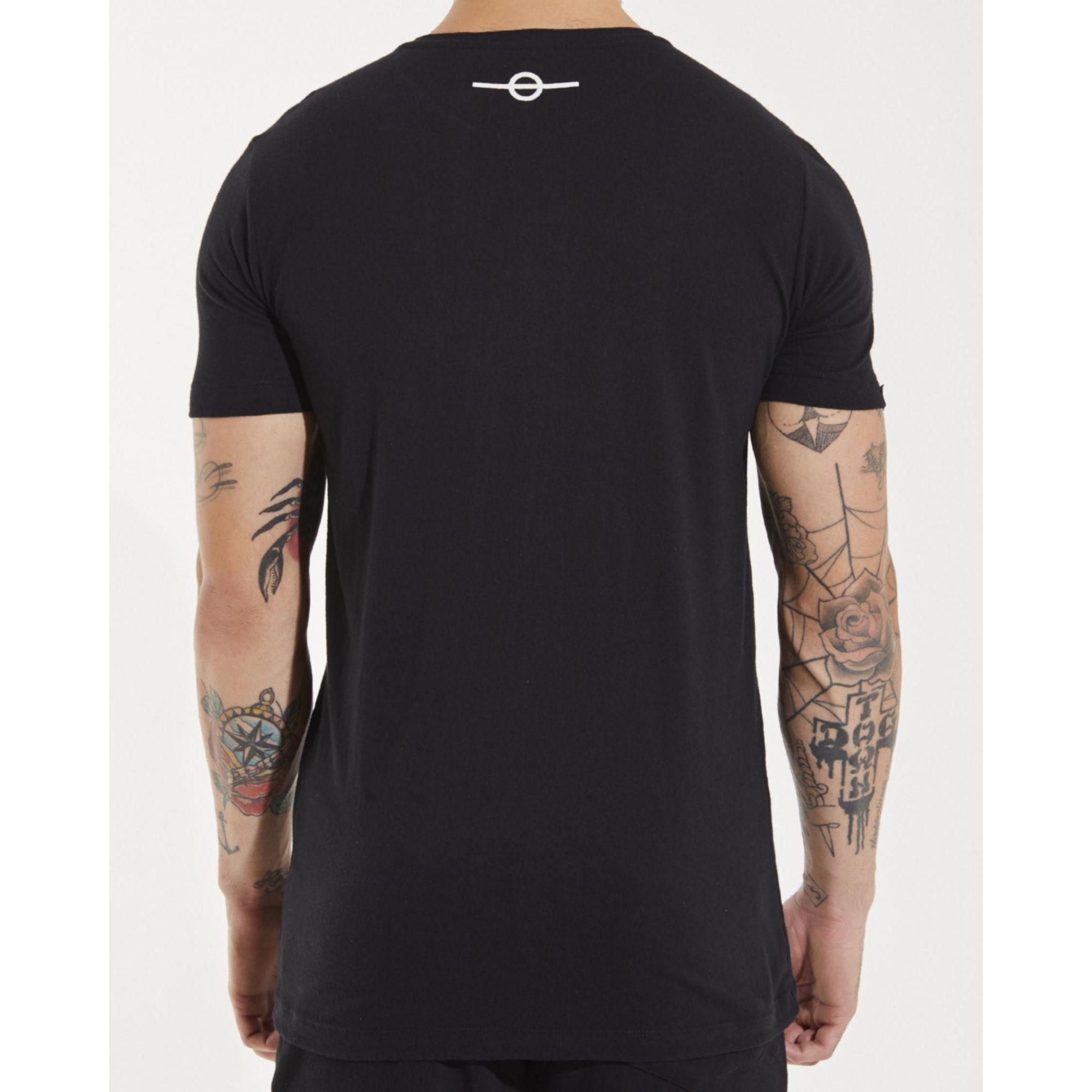 Camiseta Buh Strass Logo Black