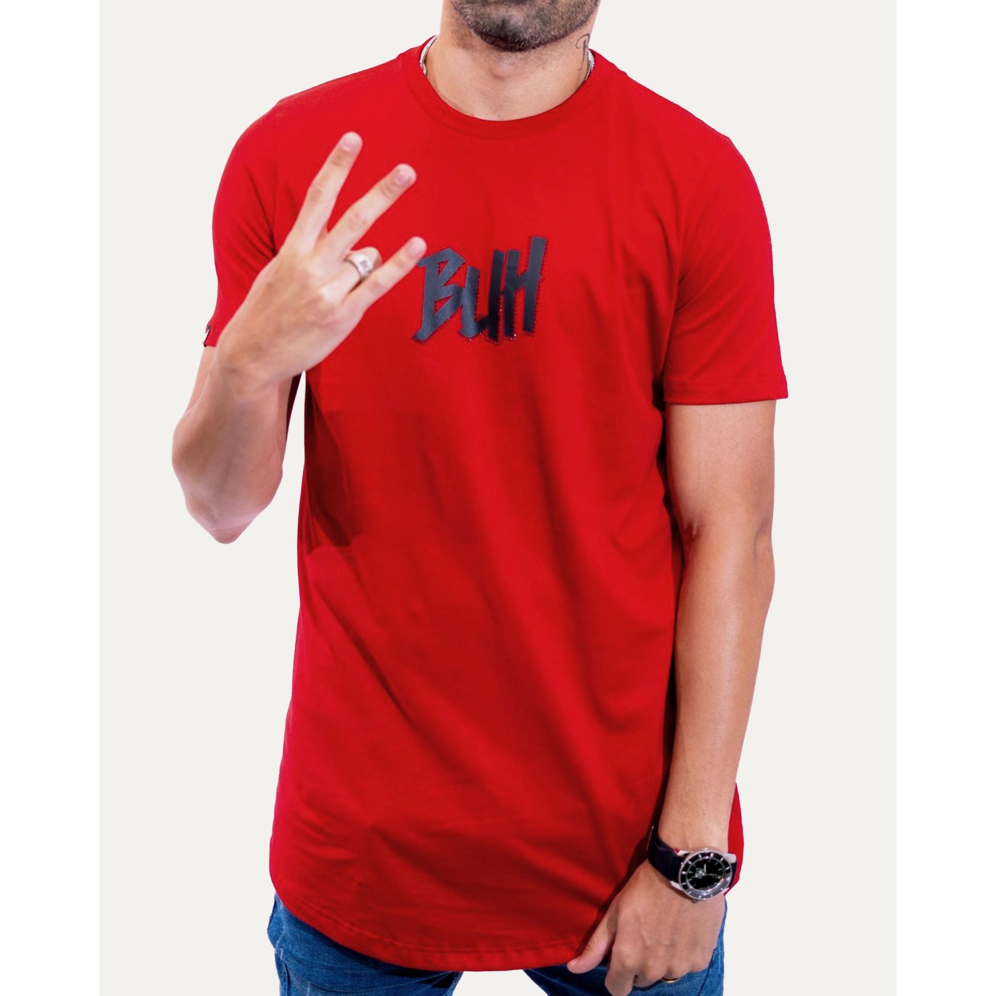 Camiseta Buh Strass Logo Red