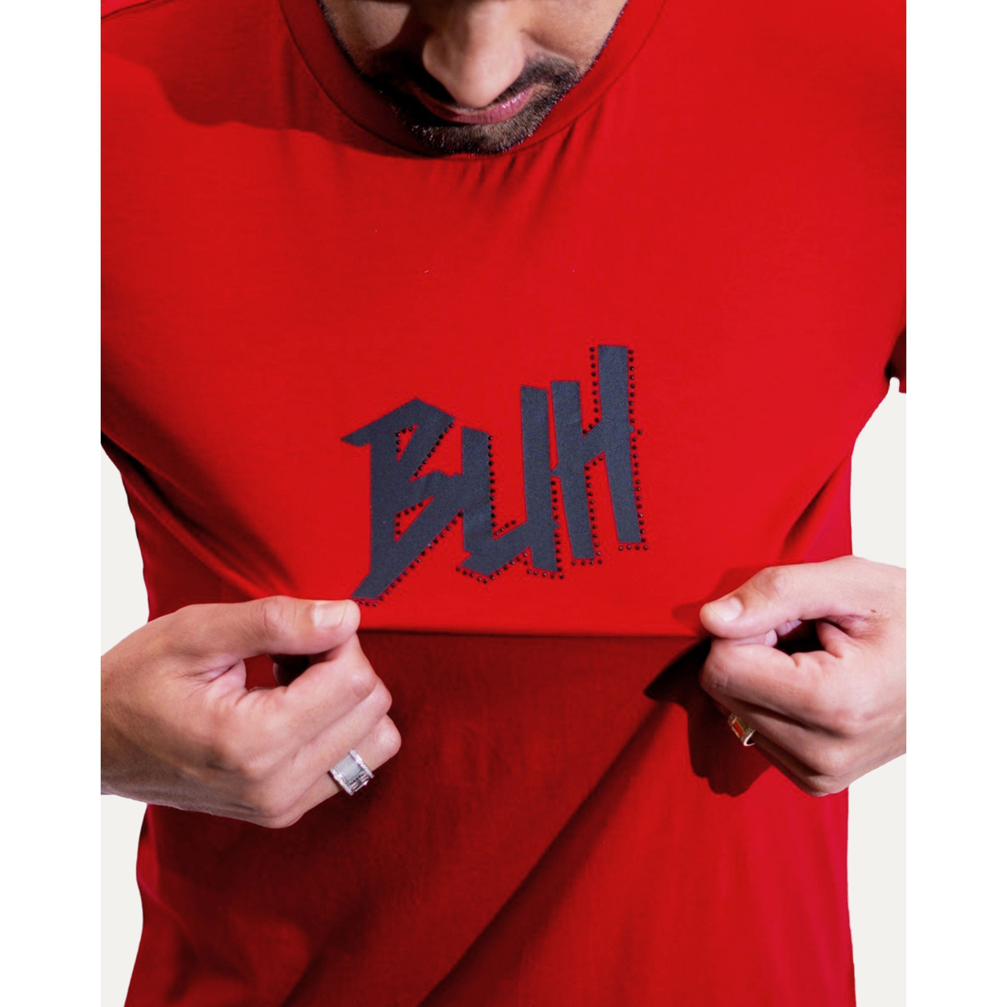 Camiseta Buh Strass Logo Red