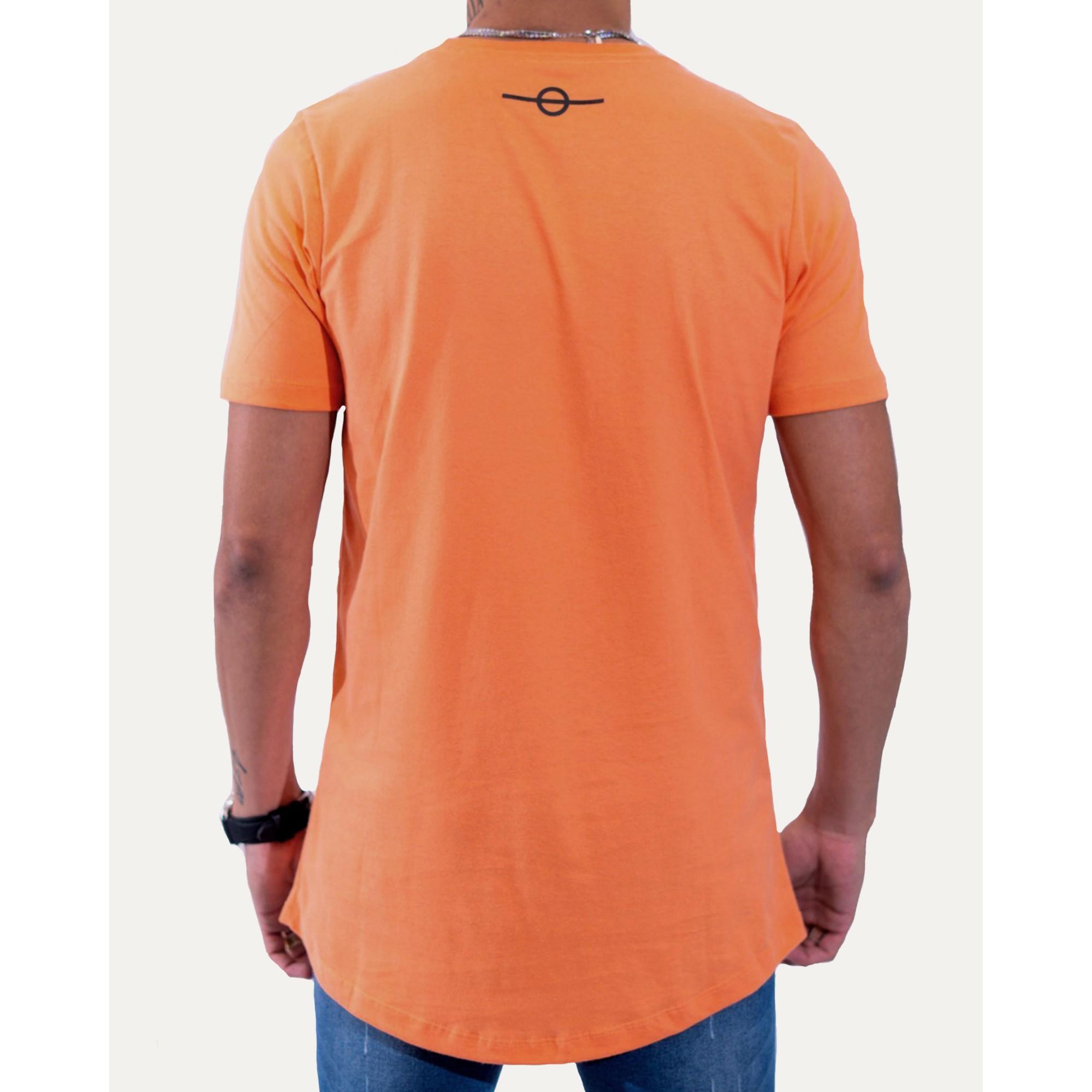 Camiseta Buh Strass Logo Orange