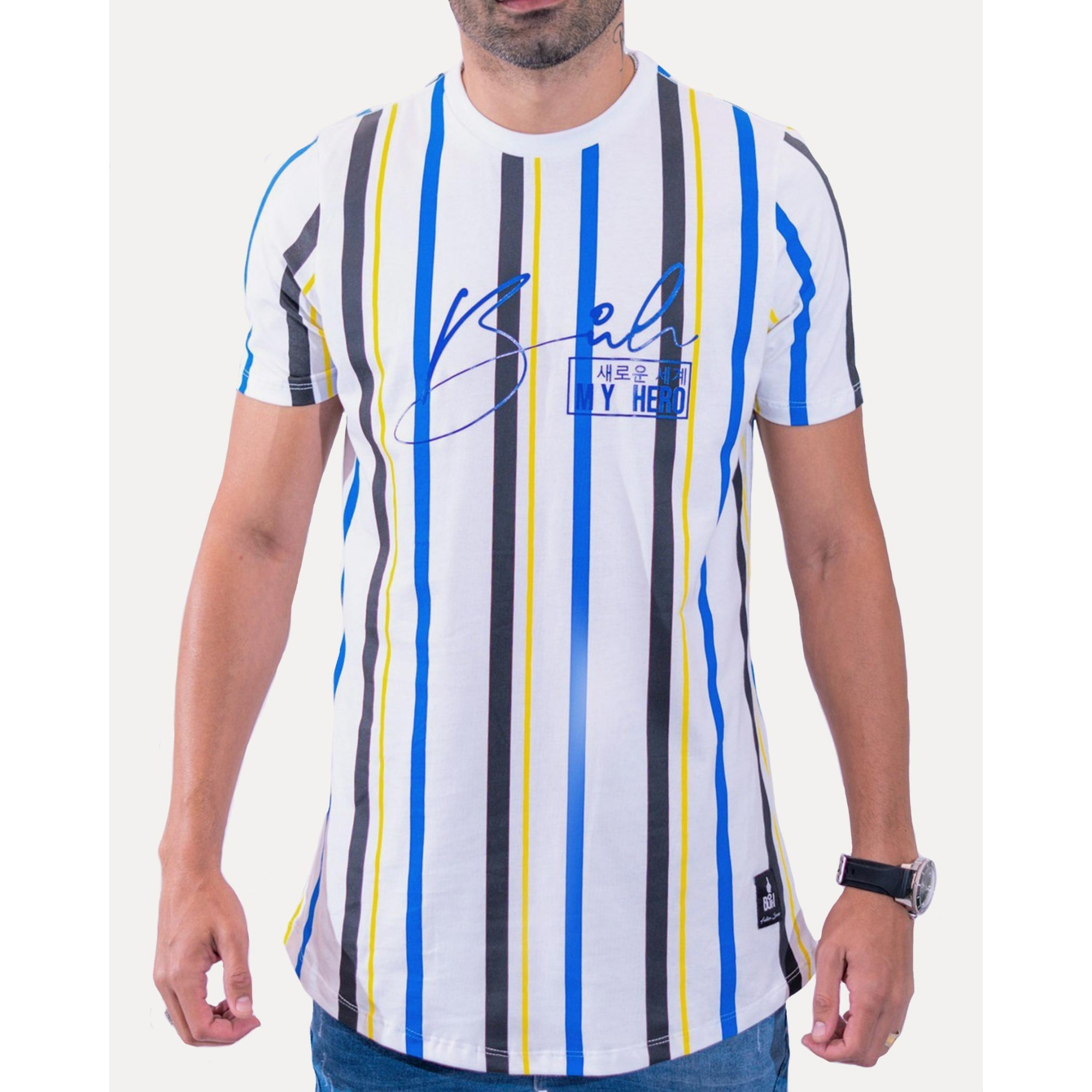 Camiseta Buh Stripes HQ White