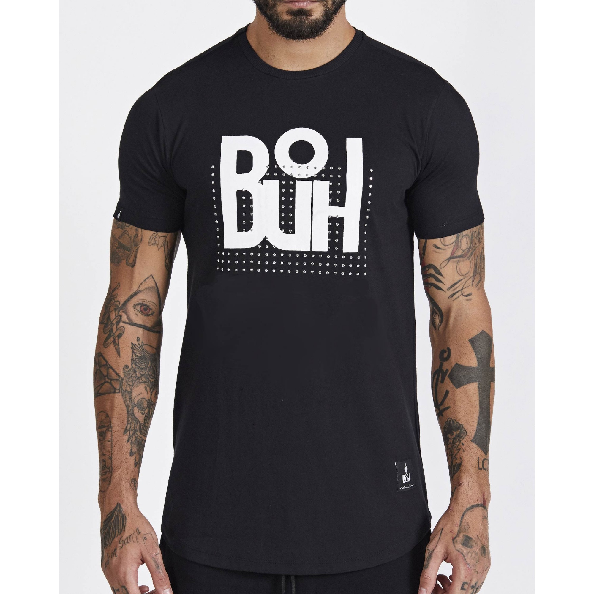 Camiseta Buh Tachinhas Black