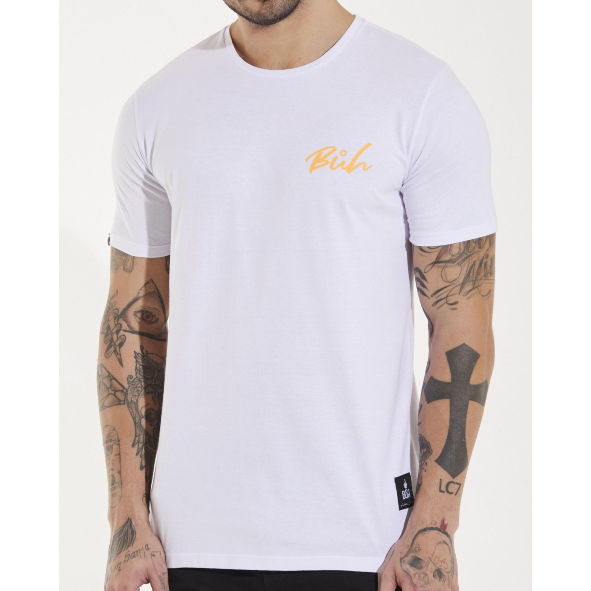 Camiseta Buh Tela Costas White