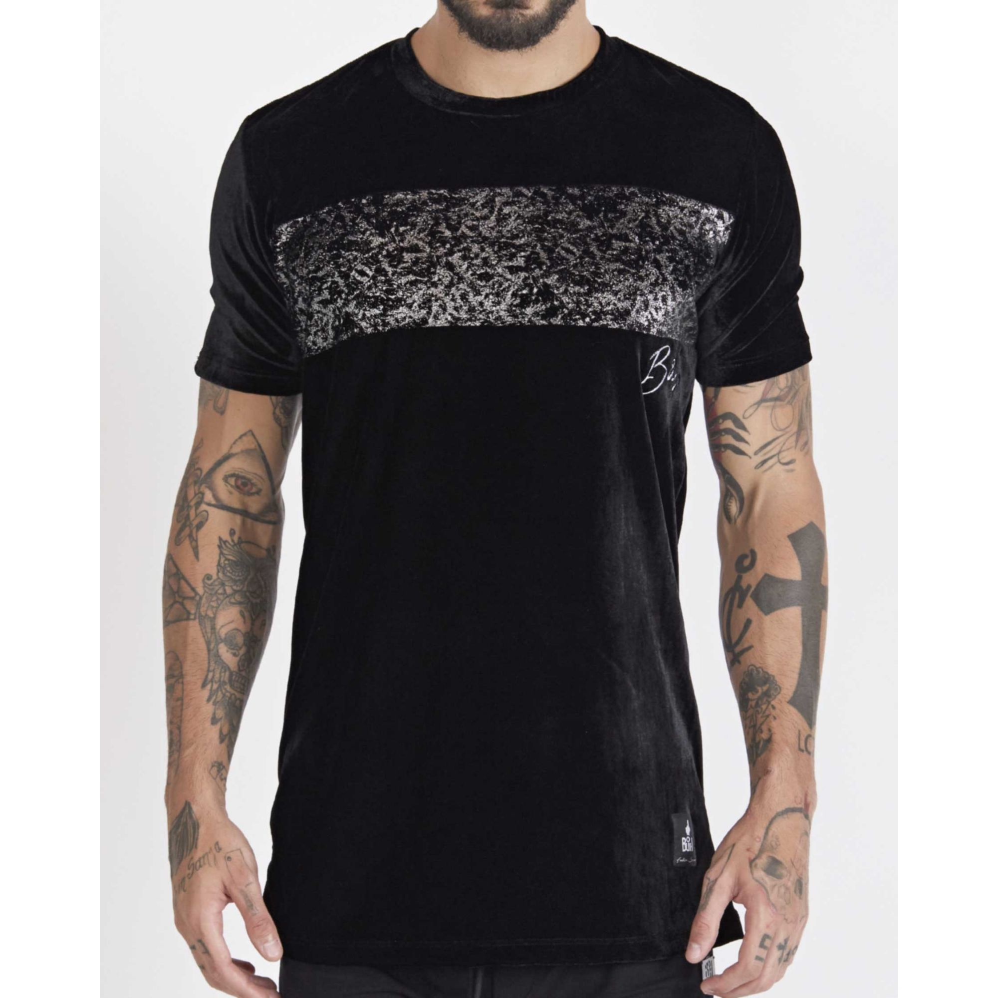 Camiseta Buh Velvet Shine Black