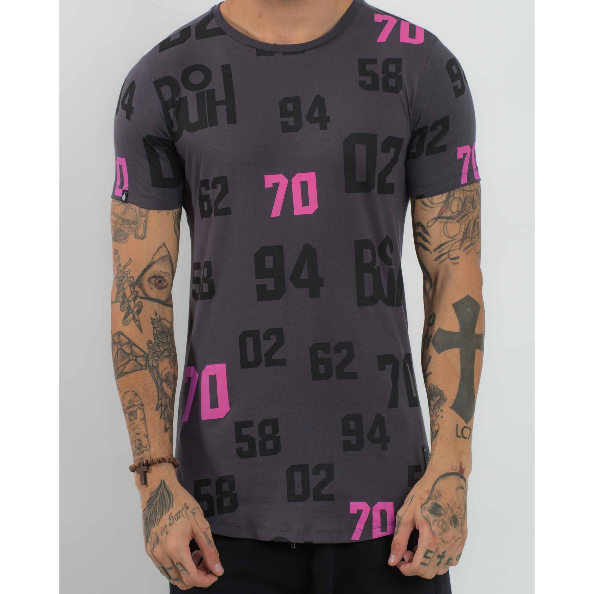 Camiseta Buh World Buh Fullprint Dark Grey