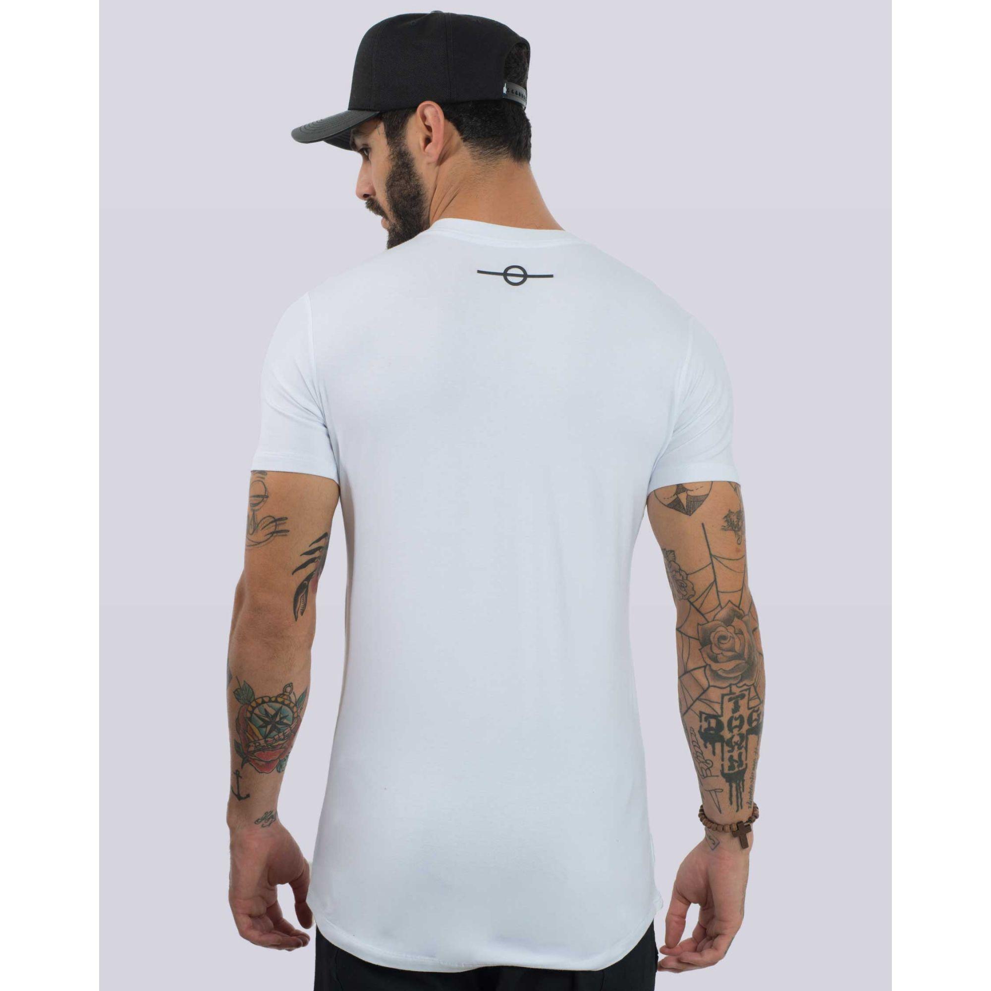 Camiseta Buh Zíper Classic White