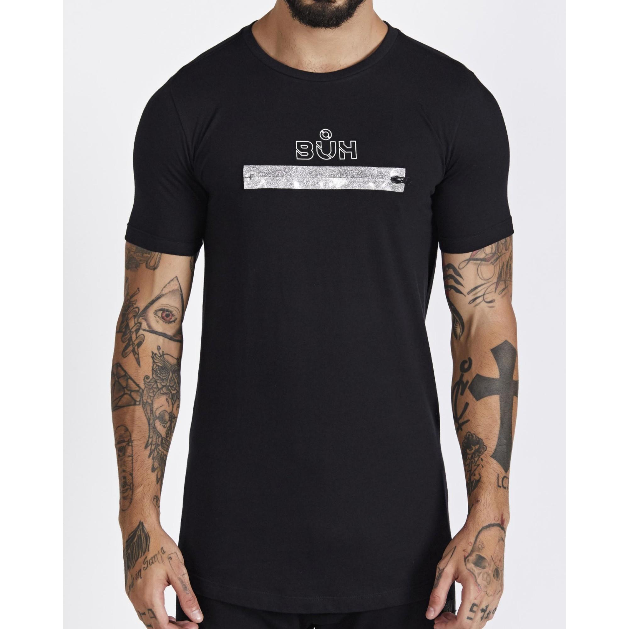 Camiseta Buh Zíper Glitter Black