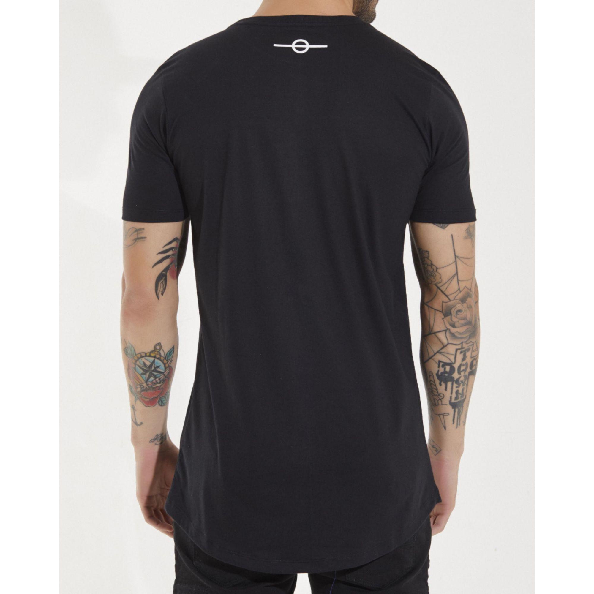 Camiseta Buh Zíper Gorgurão Black