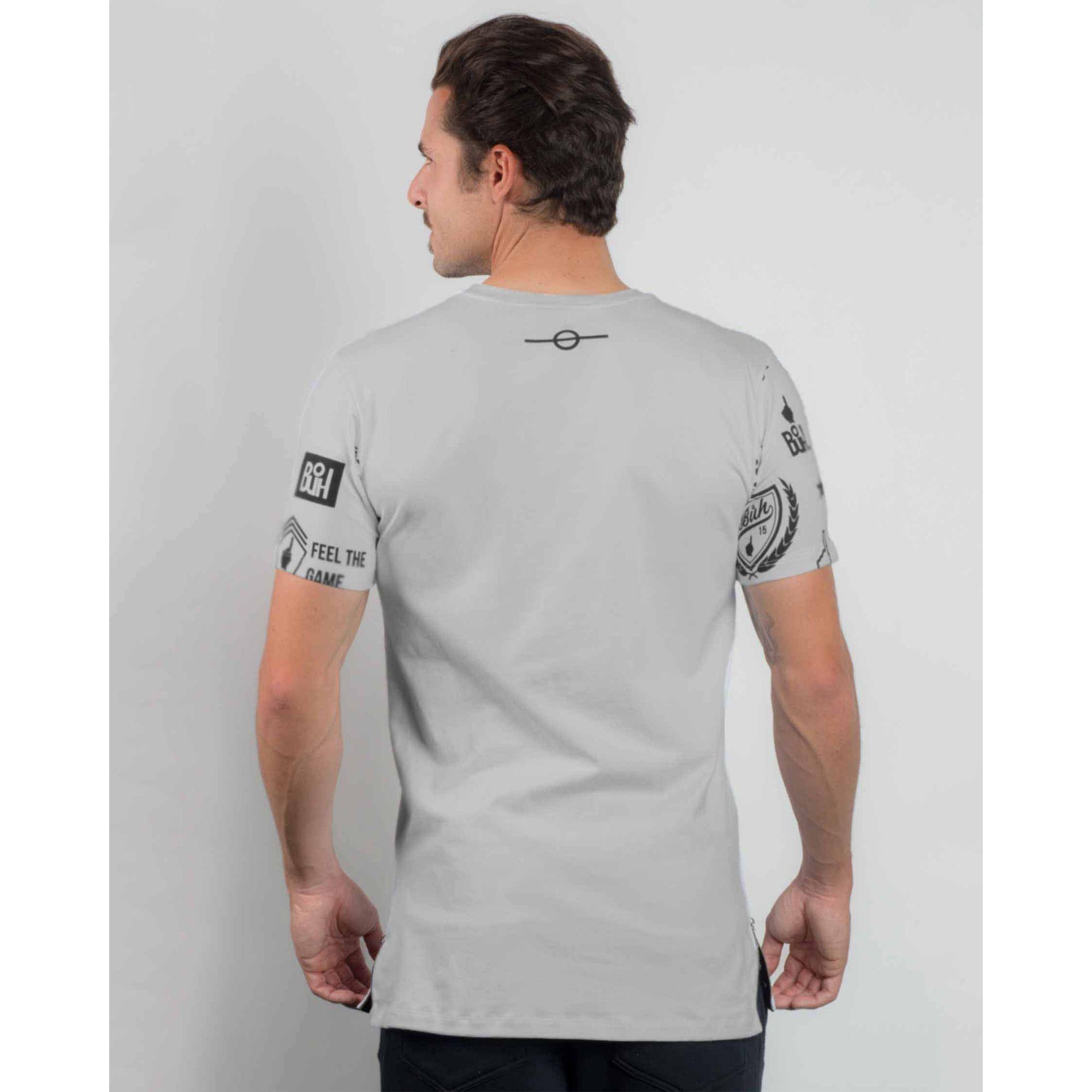 Camiseta Buh Zíper Logos Grey