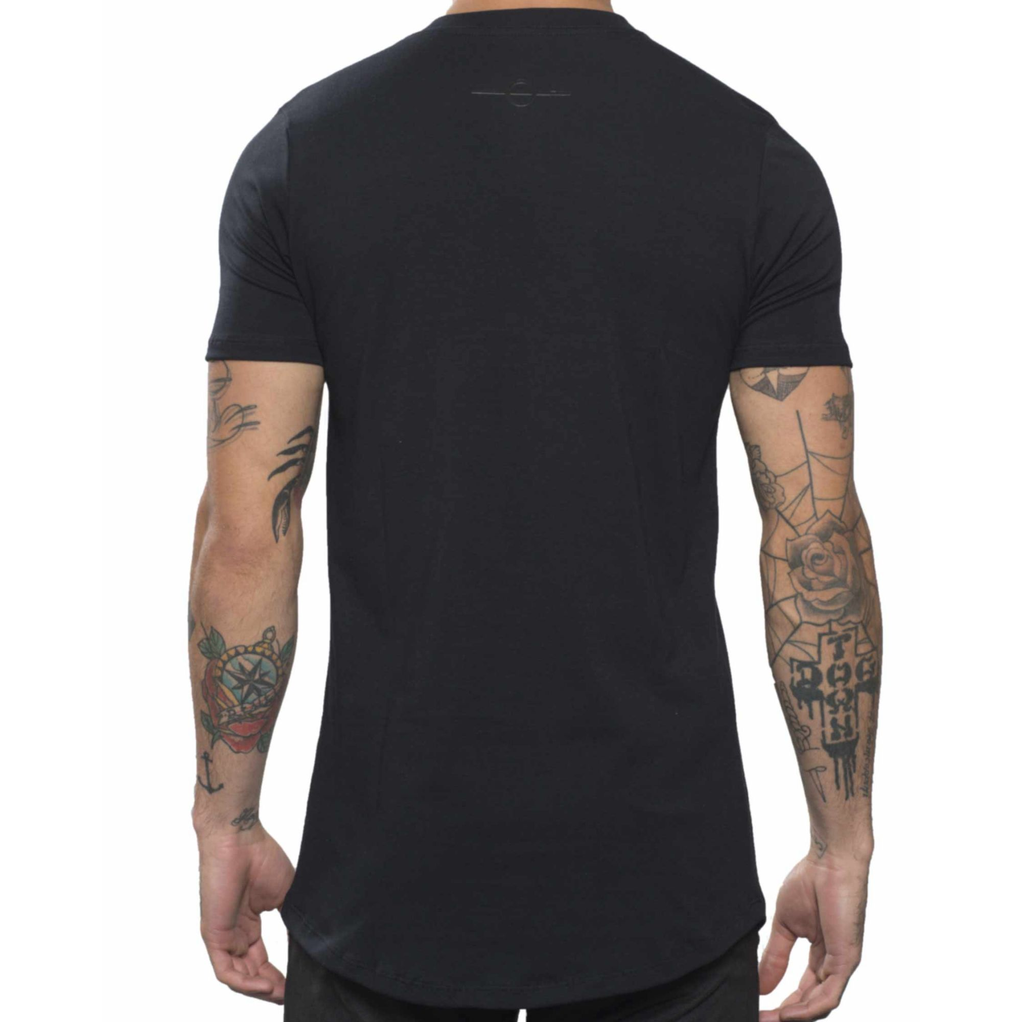 Camiseta Buh Zíper Plaquinha Black