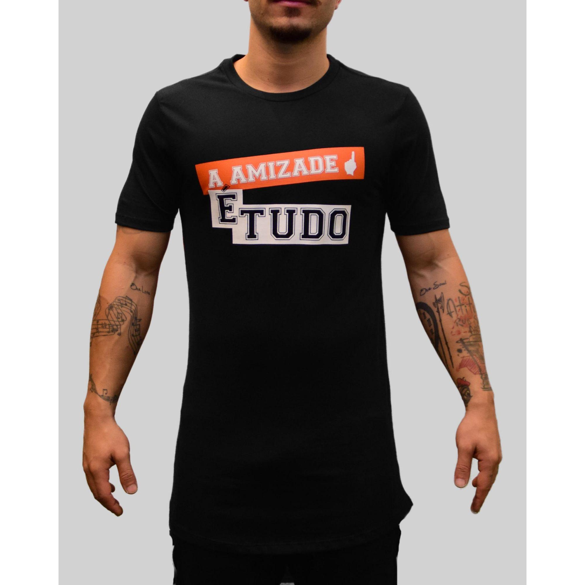 Camiseta Jeito Moleque A Amizade Black