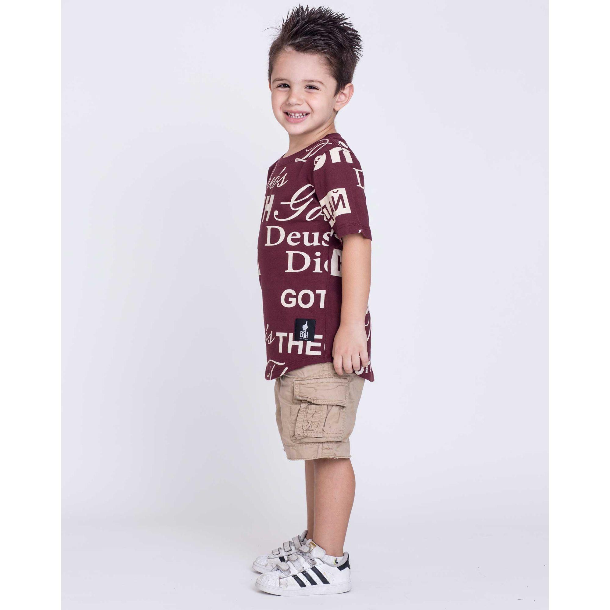 Camiseta Oversized Buh Kids Bordô
