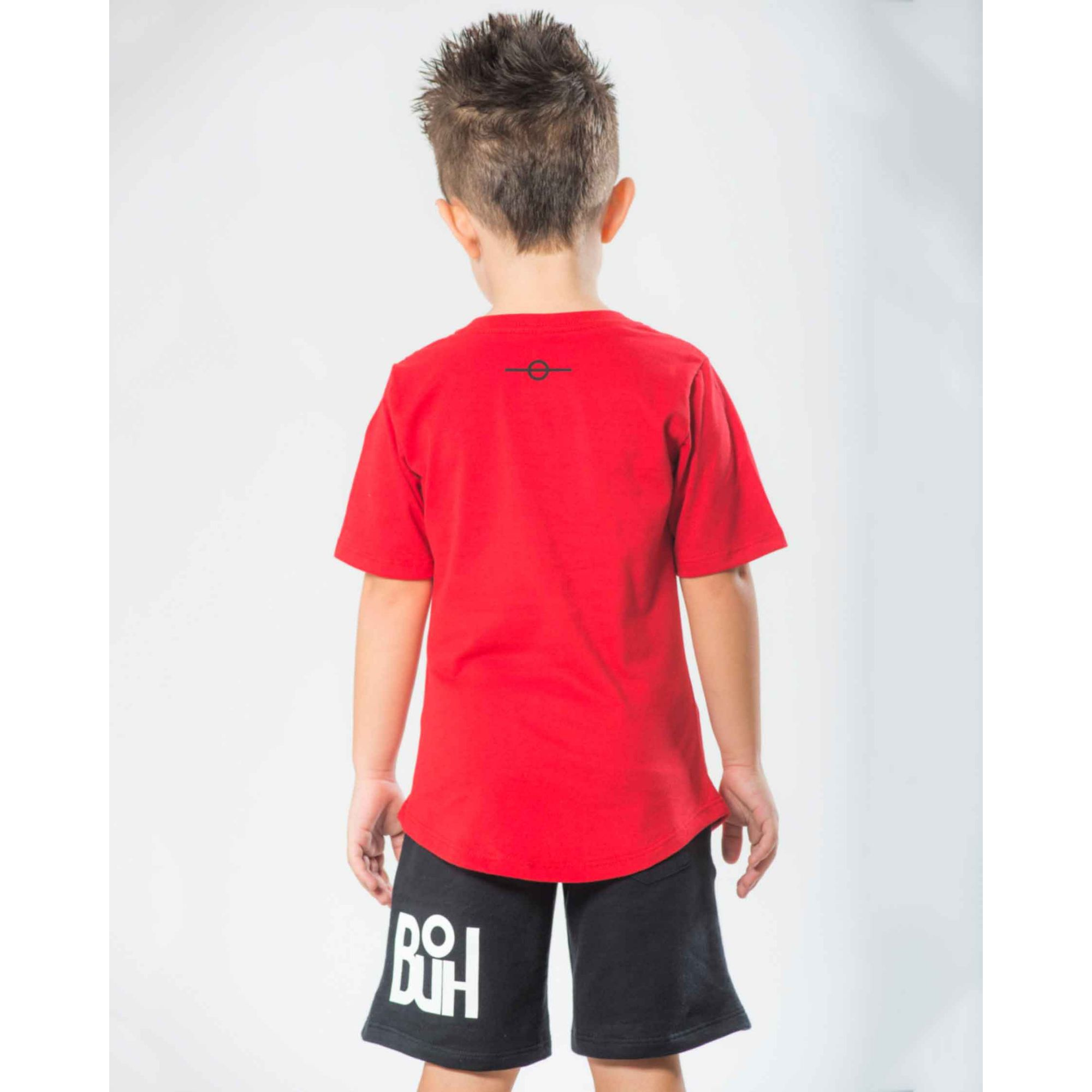Camiseta Oversized Buh Kids FTG Minimal Red