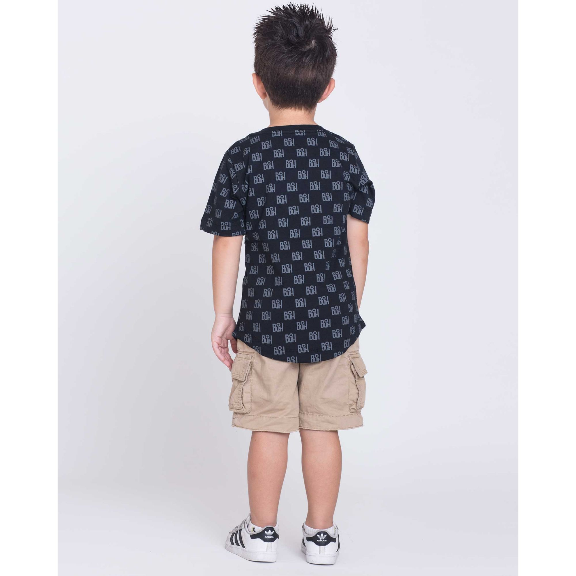 Camiseta Oversized Buh Kids Full Print Black