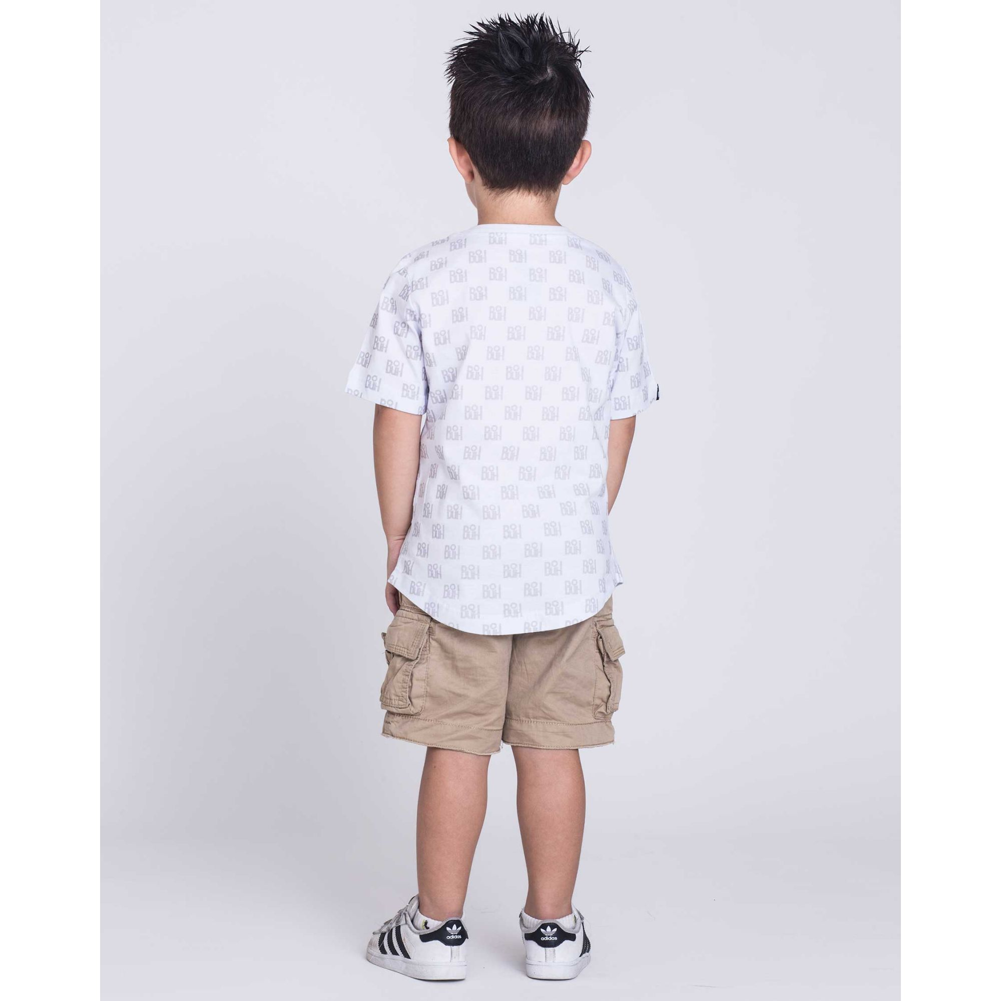 Camiseta Oversized Buh Kids Full Print White