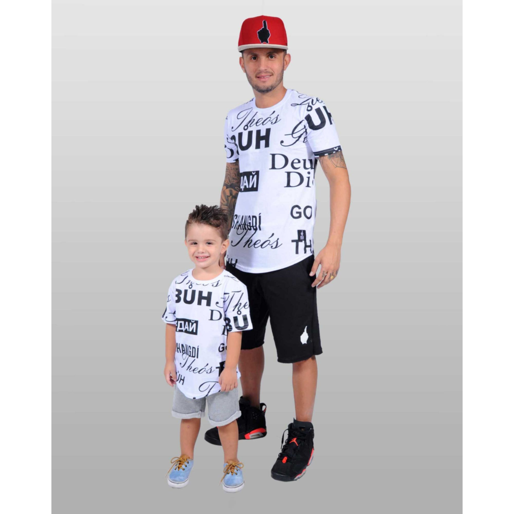 Camiseta Oversized Buh Kids White