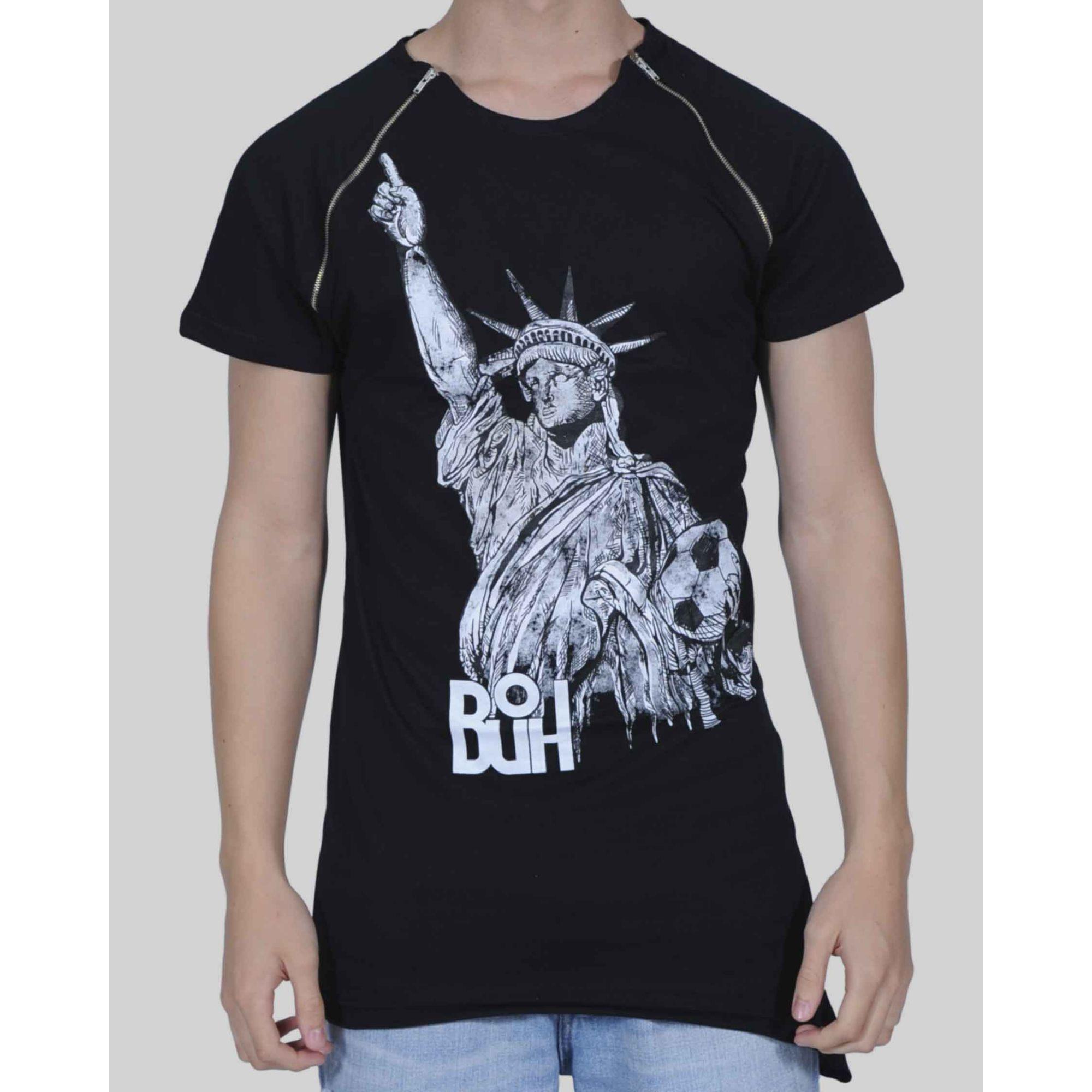 Camiseta Oversized Buh Liberty Off Black