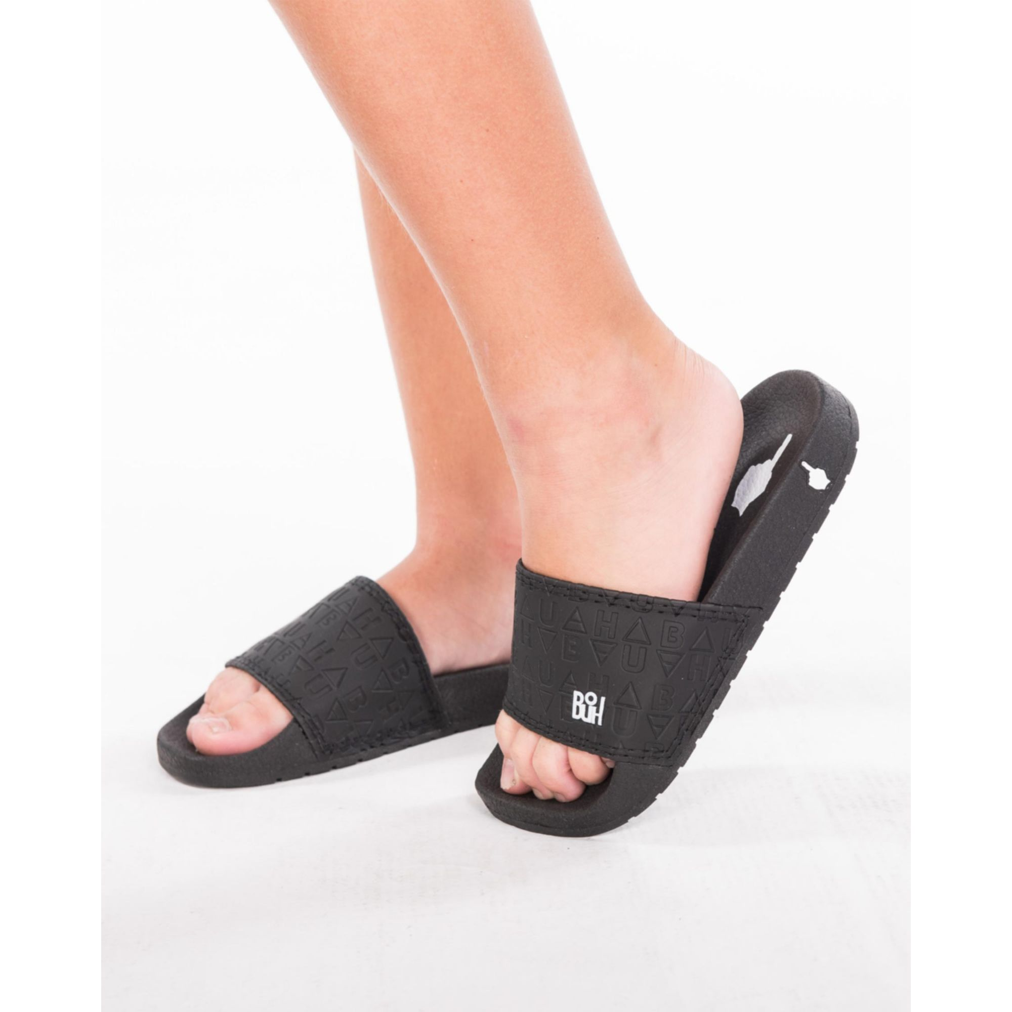 Chinelo Buh Kids Slide Elementos Black