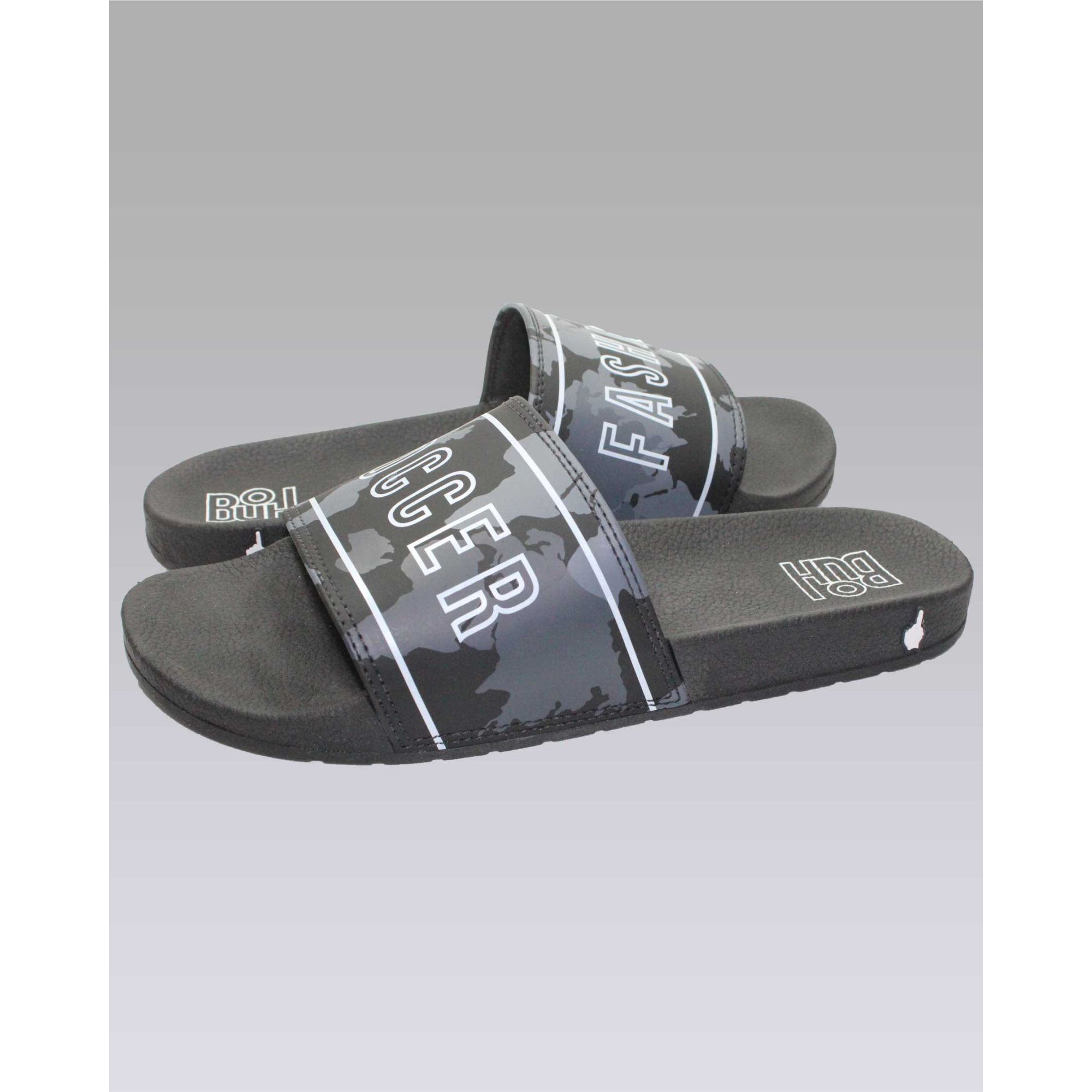 Chinelo Buh Slide Camo World Black