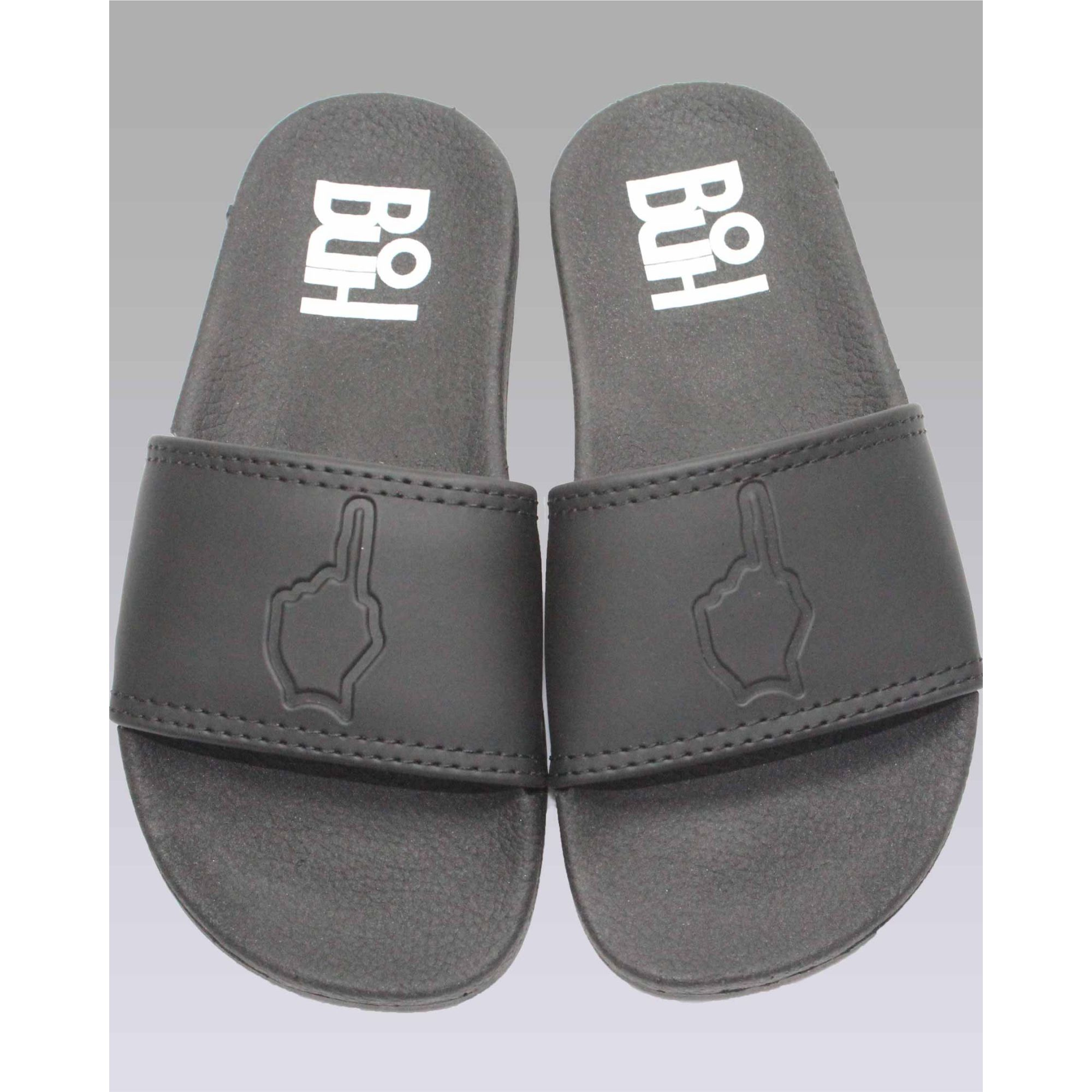 Chinelo Buh Slide Finger Black Kids