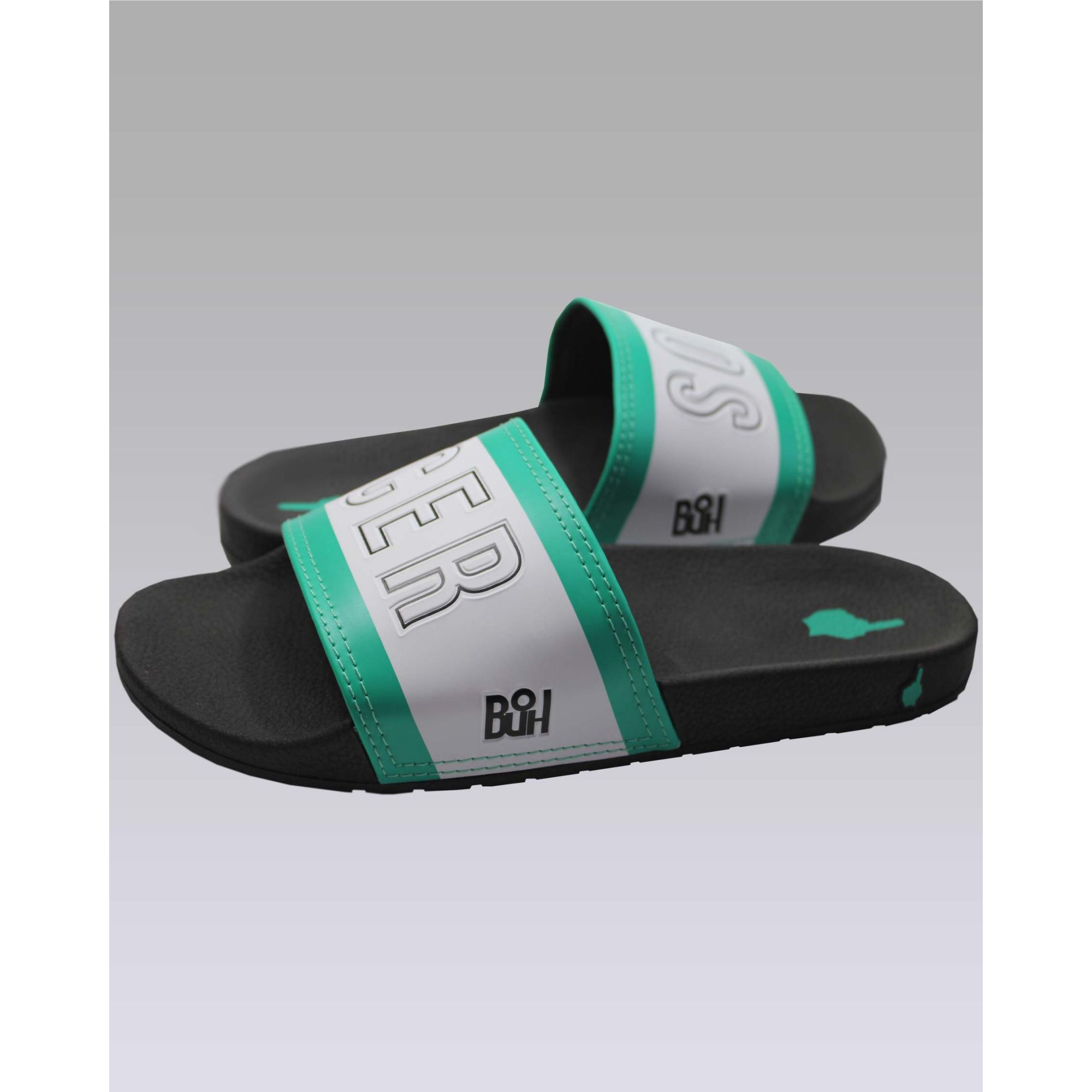 Chinelo Buh Slide Soccer Green & White