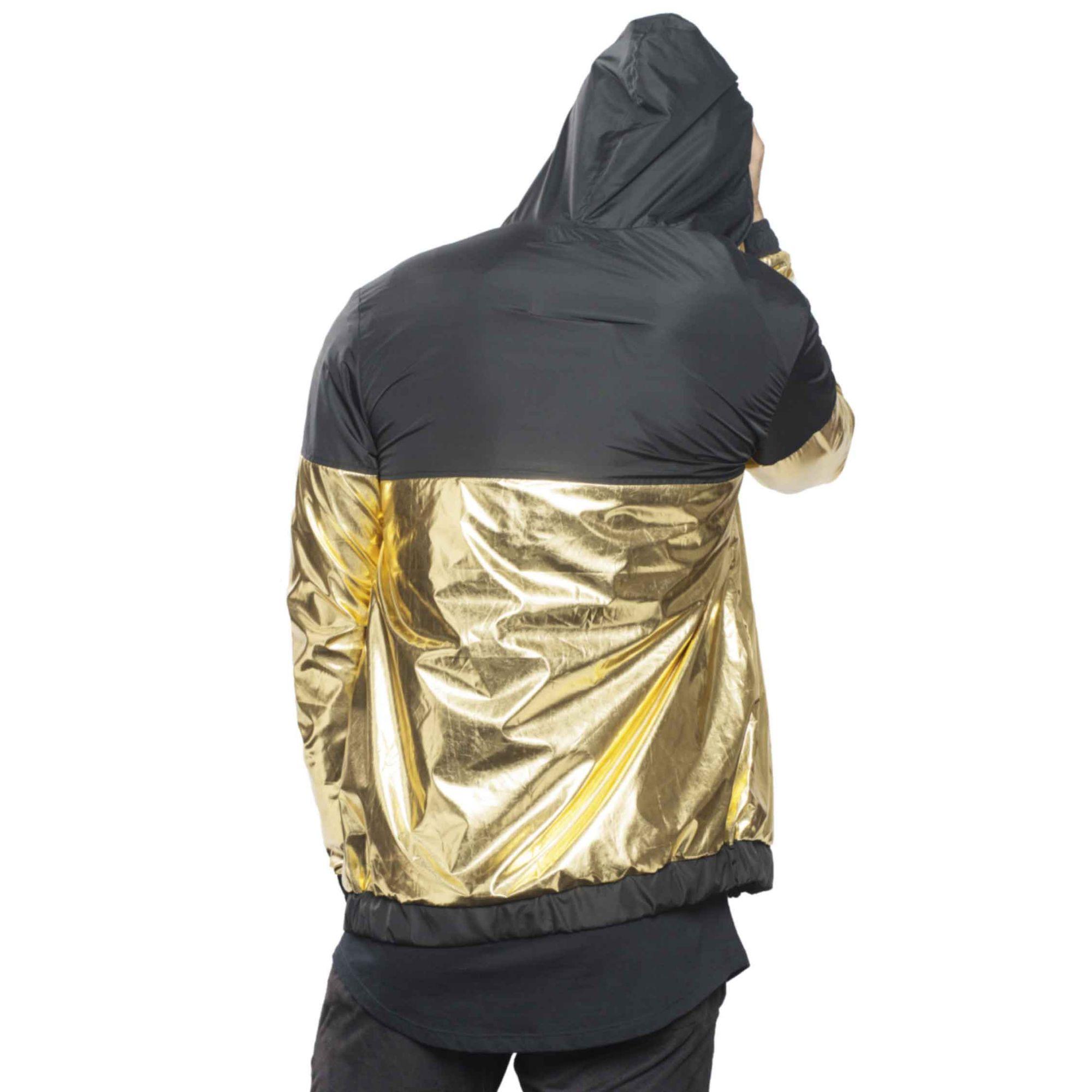 Jaqueta Buh Corta Vento Metal Black & Gold