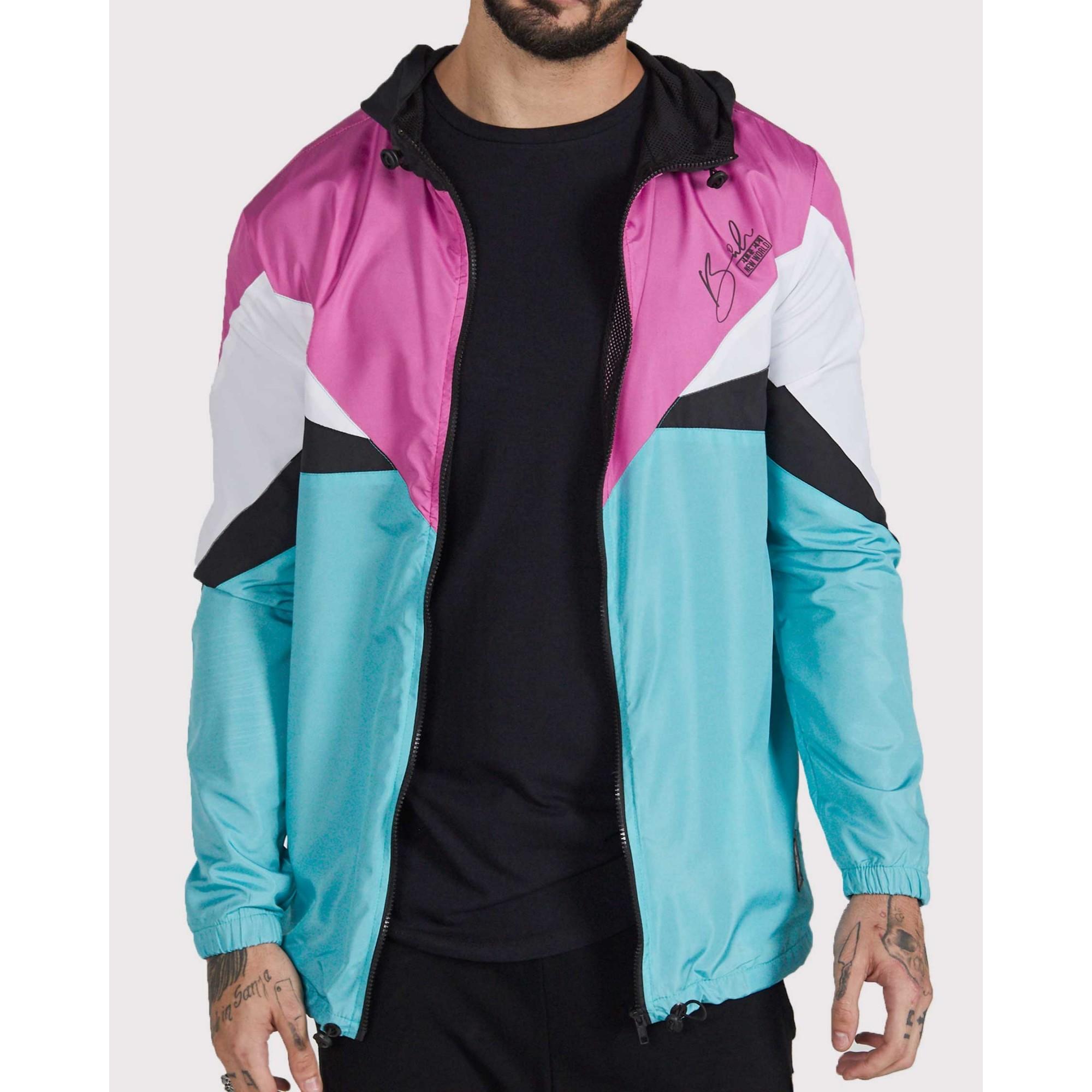Jaqueta Buh Corta Vento Pink & Blue