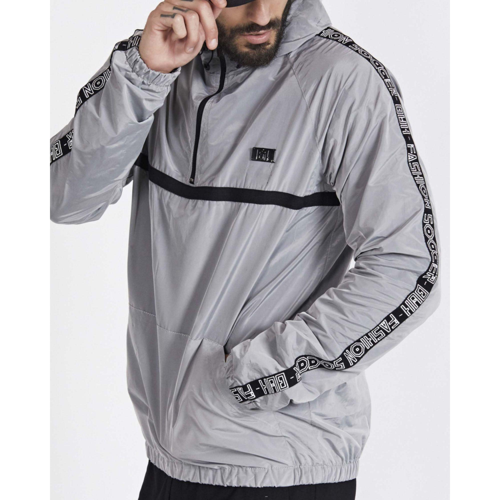 Jaqueta Buh Corta Vento Shine Grey